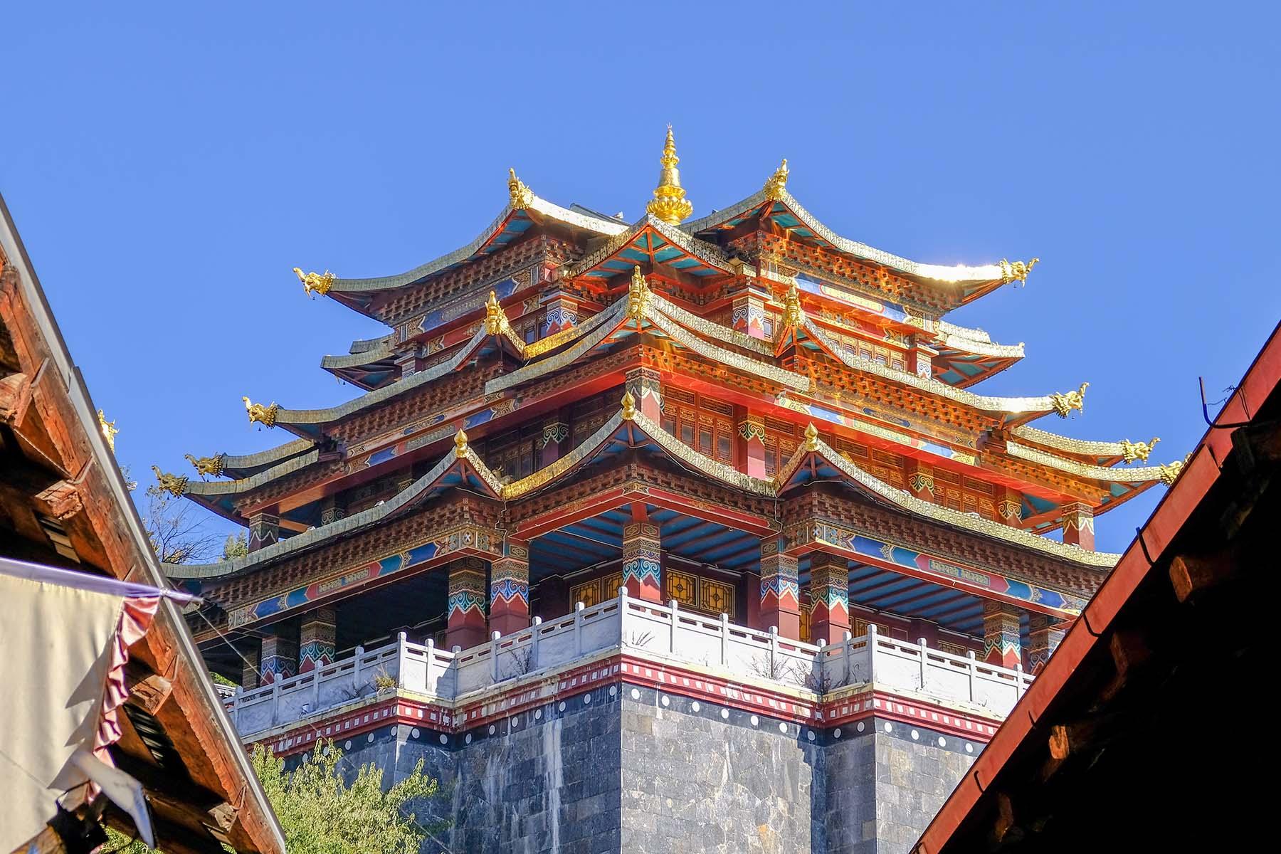 Guishan Tempel in der Altstadt von Shangrila, Yunnan