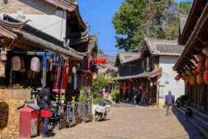 Shuhe Altstadt in der Nähe von Lijiang, Yunnan