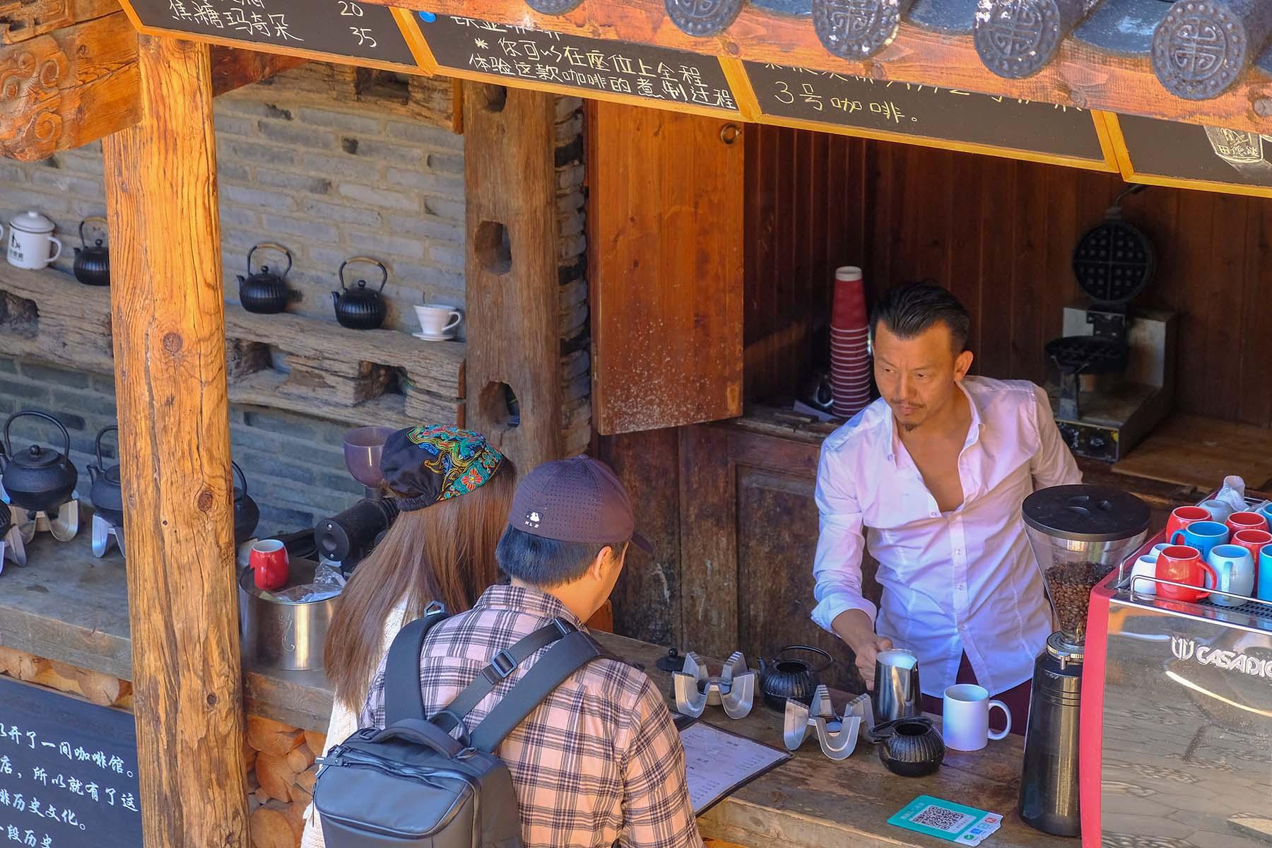 Café in Shuhe Altstadt in der Nähe von Lijiang, Yunnan