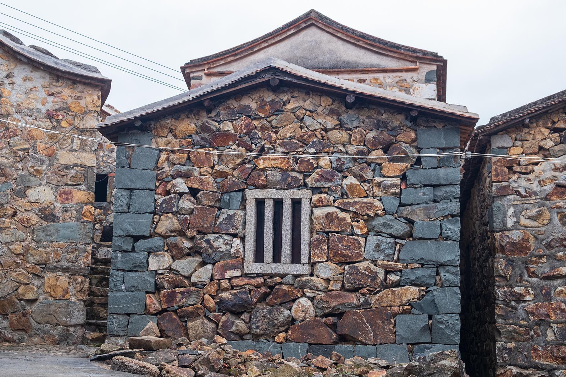 Steinhäuser in Zhangjiao in der Provinz Fujian, China