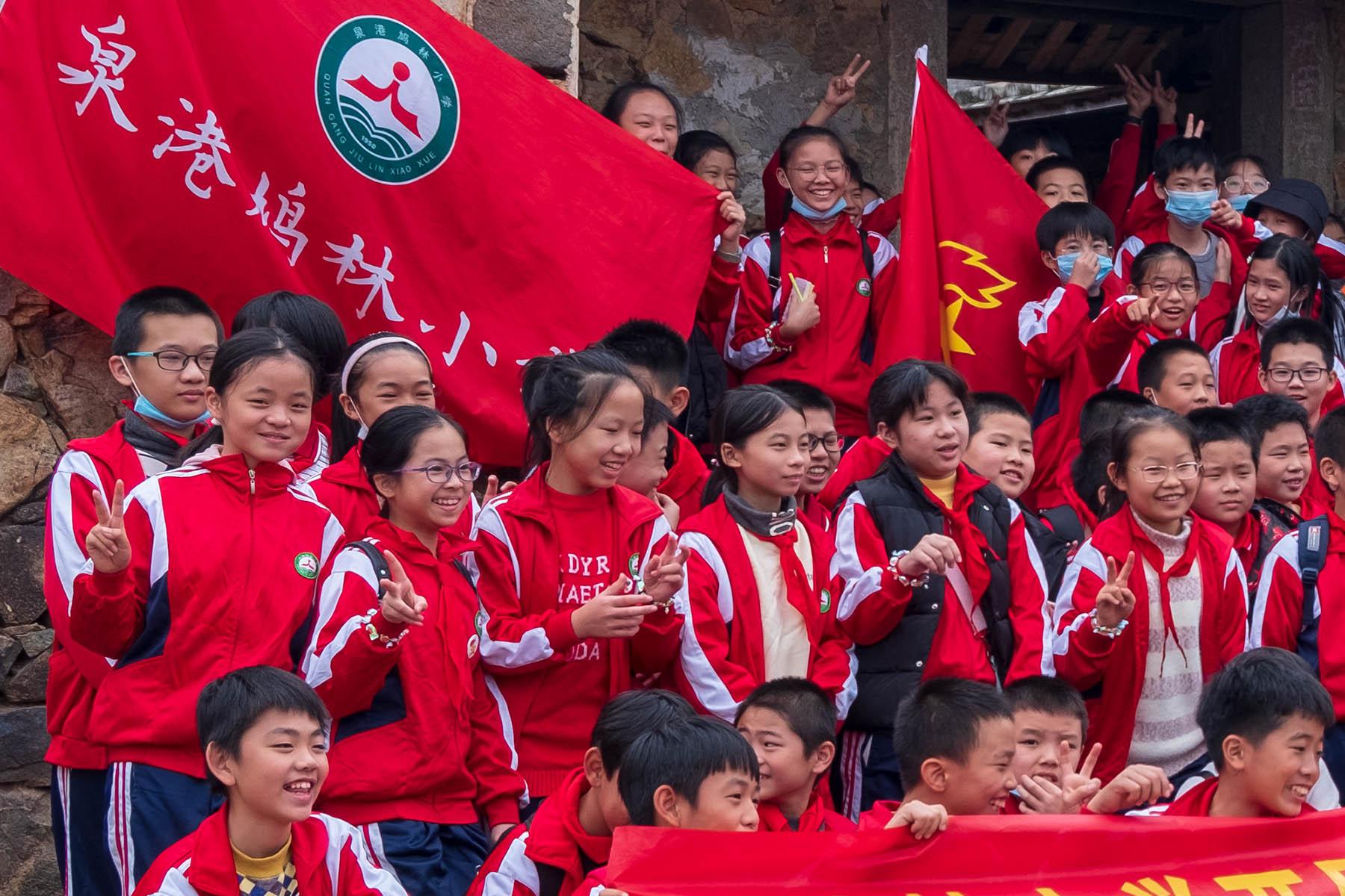 Schüler Gruppe in Zhangjiao in der Provinz Fujian, China