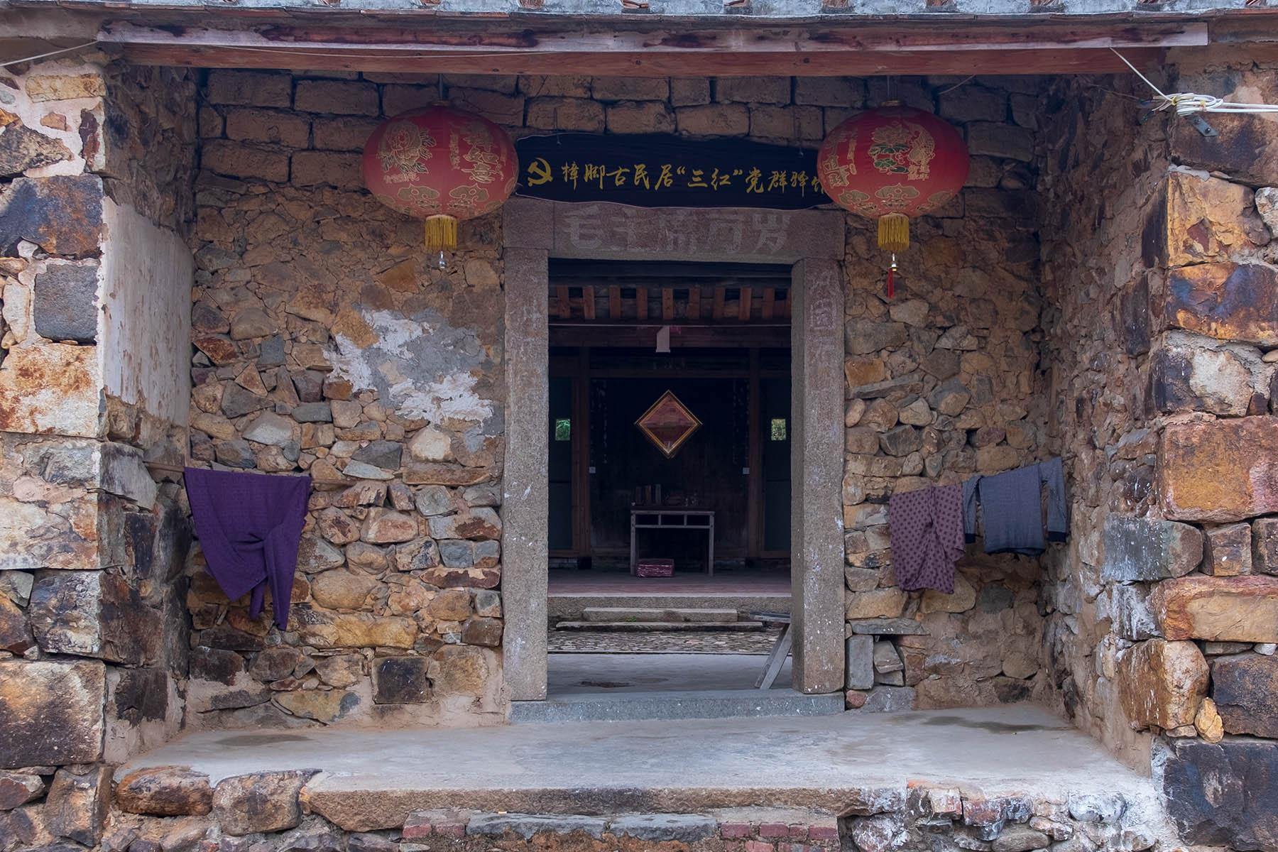 Typische Steinhäuser in Zhangjiao in der Provinz Fujian, China