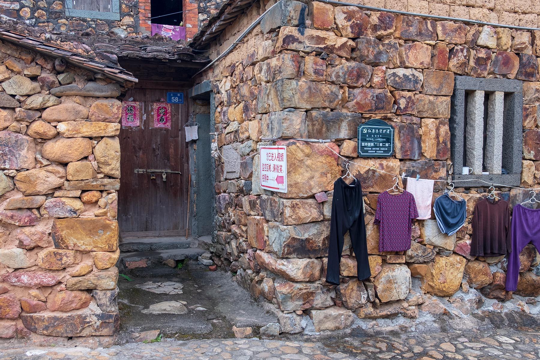 Steinhaus in Zhangjiao in der Provinz Fujian, China