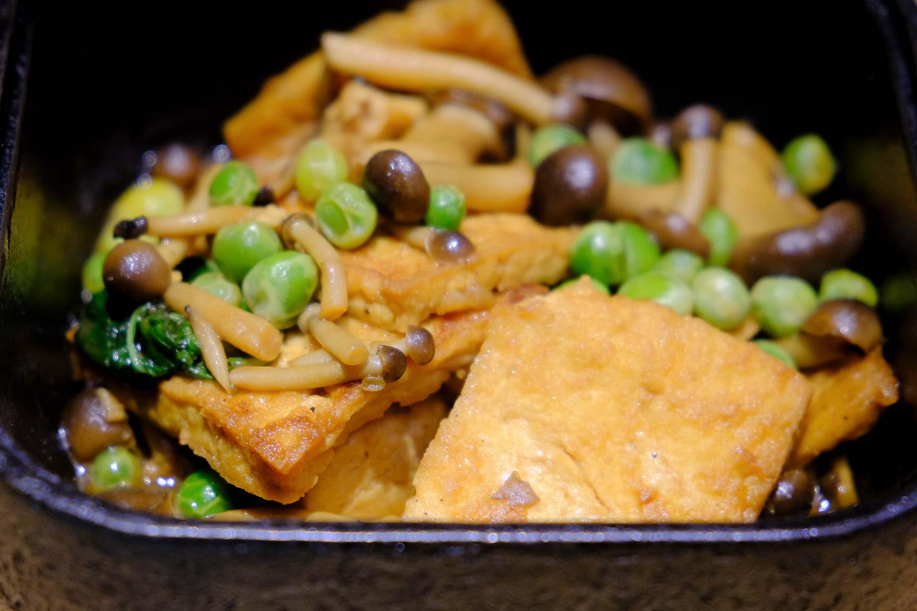 Tofu mit Pilzen in Ningbo, China