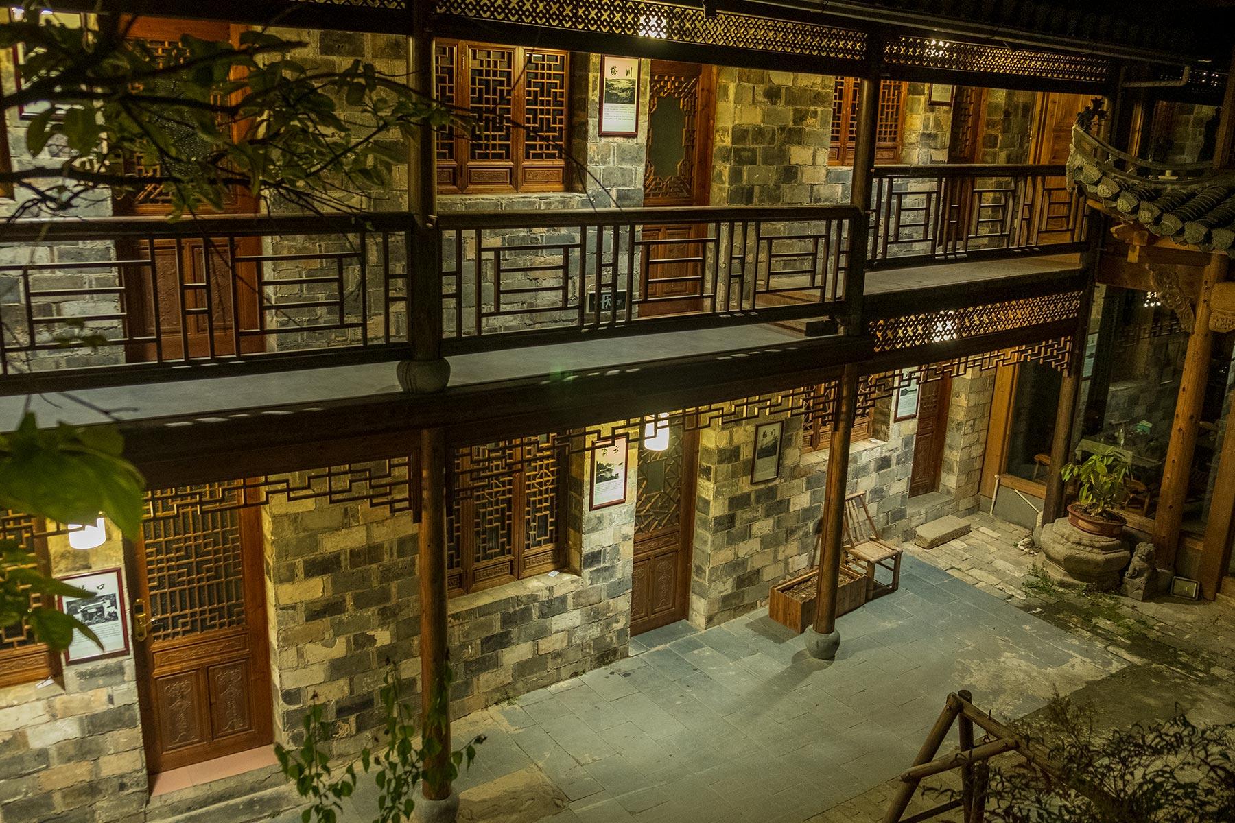 Hotel in der Altstadt Hongcun in Anhui, China