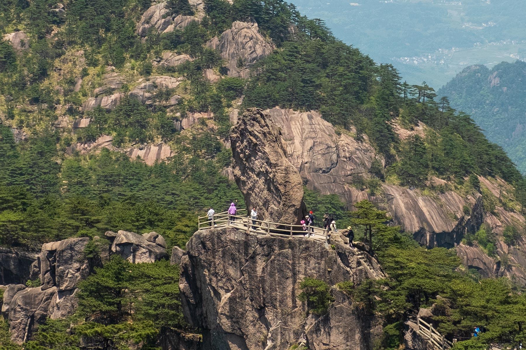 Tianhai im Huangshan Gebirge in Anhui, China im Frühling