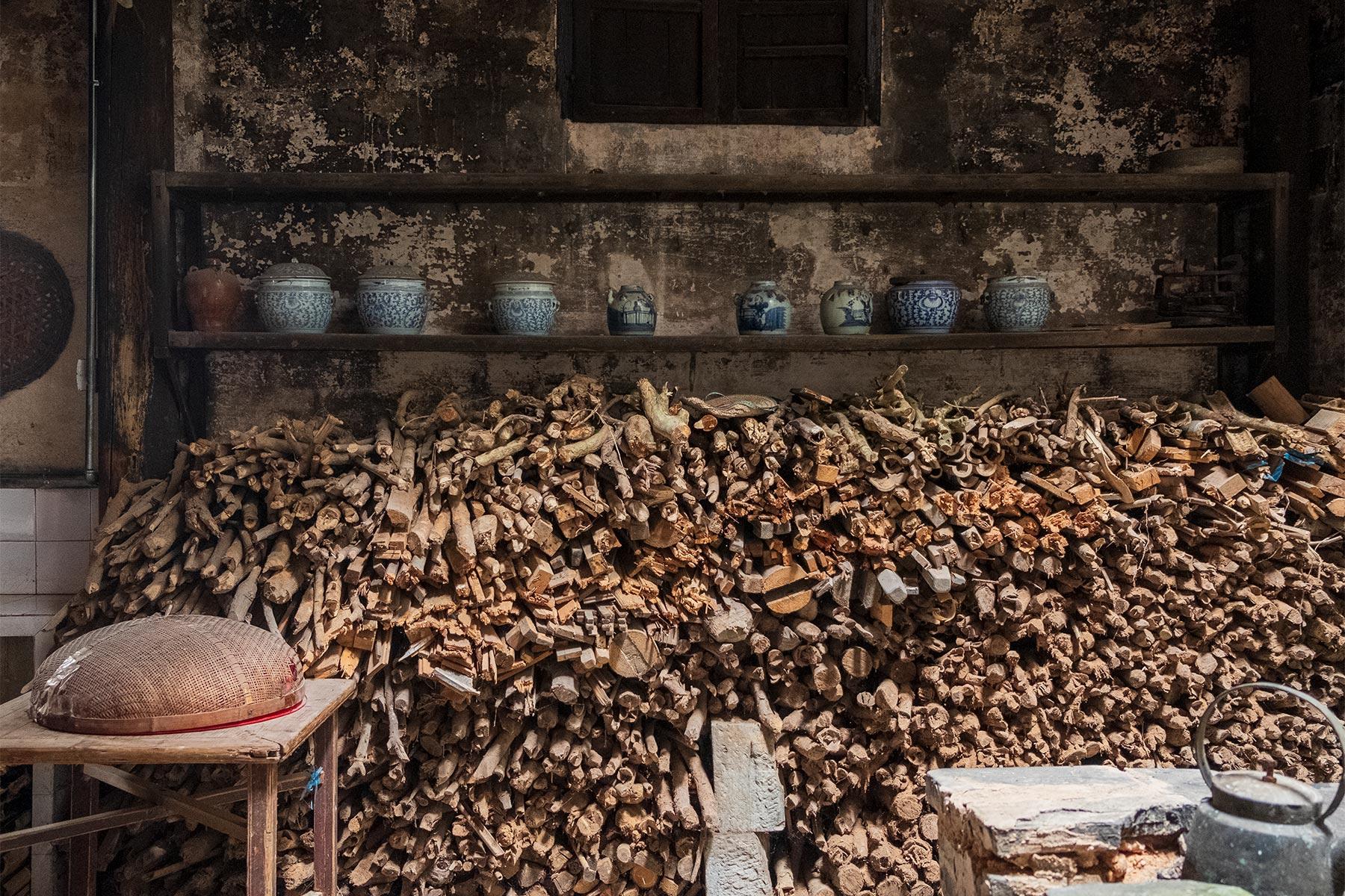 Alte Küche in der historischen Altstadt Nanping in Anhui, China