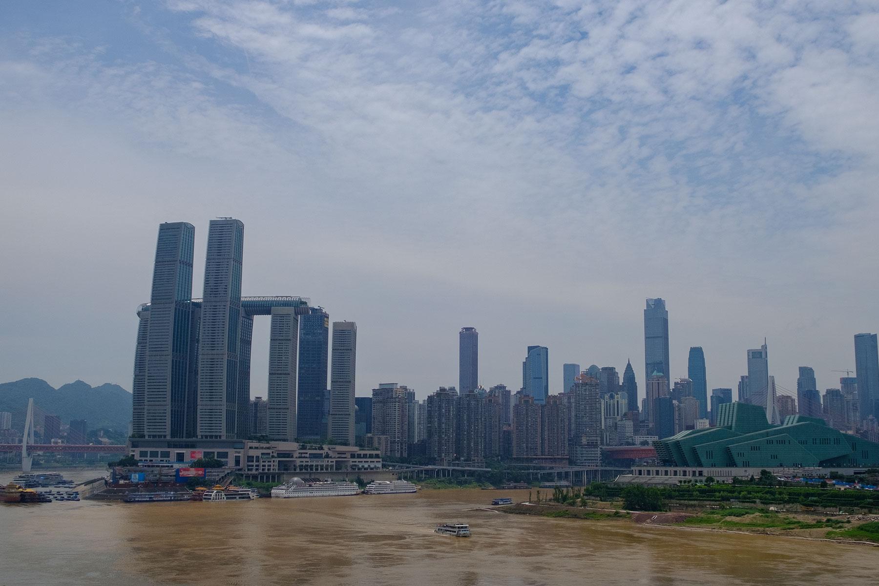 Innenstadt Panorama in Chongqing