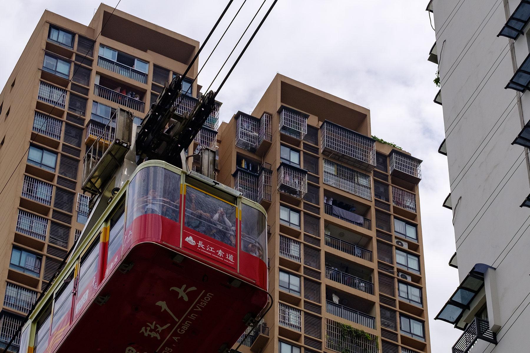 Gondel einer Seilbahn in Chongqing