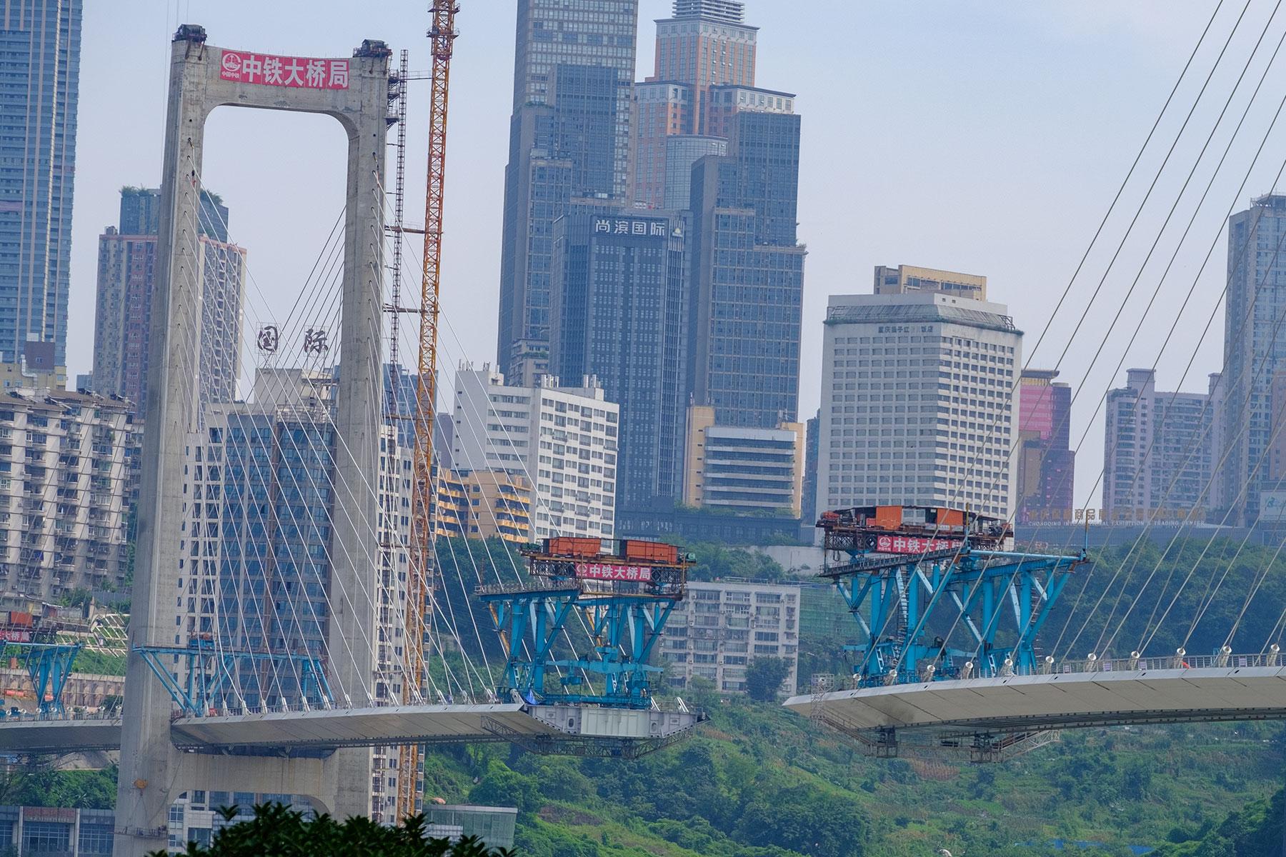 Brückenbau in Chongqing