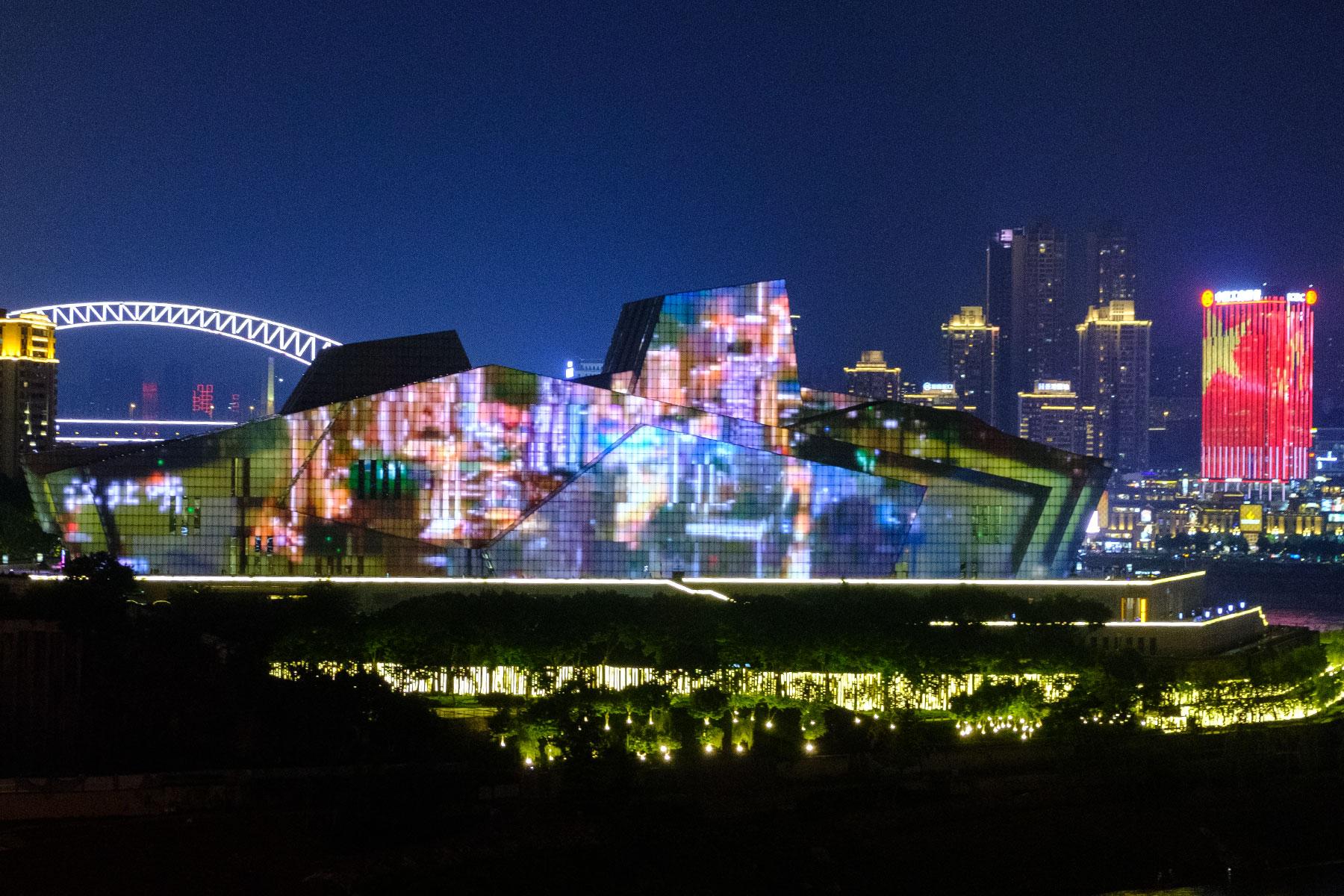Chongqing Oper bei Nacht in China