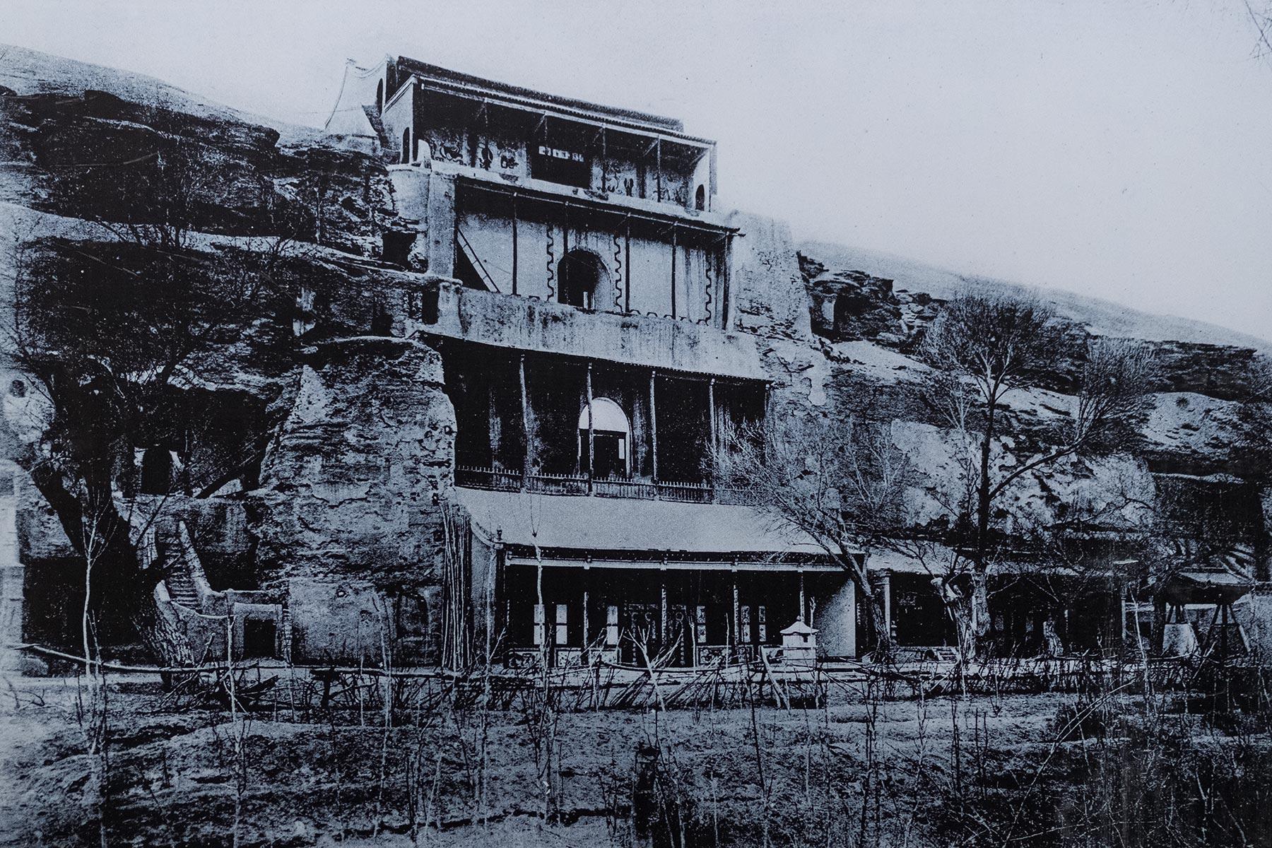 Mogao Höhlen in Gansu in China Historisches Foto