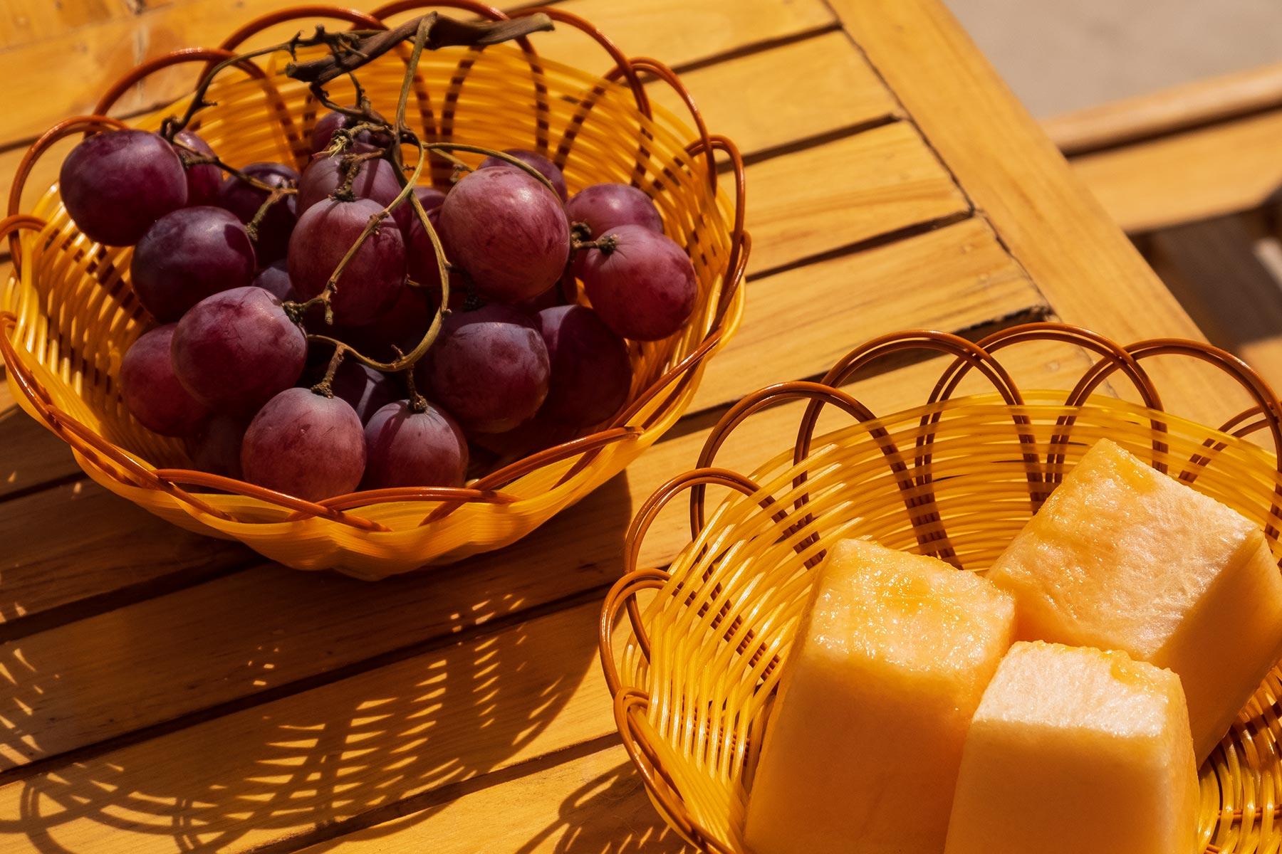 Melone und Weintrauben in Gansu