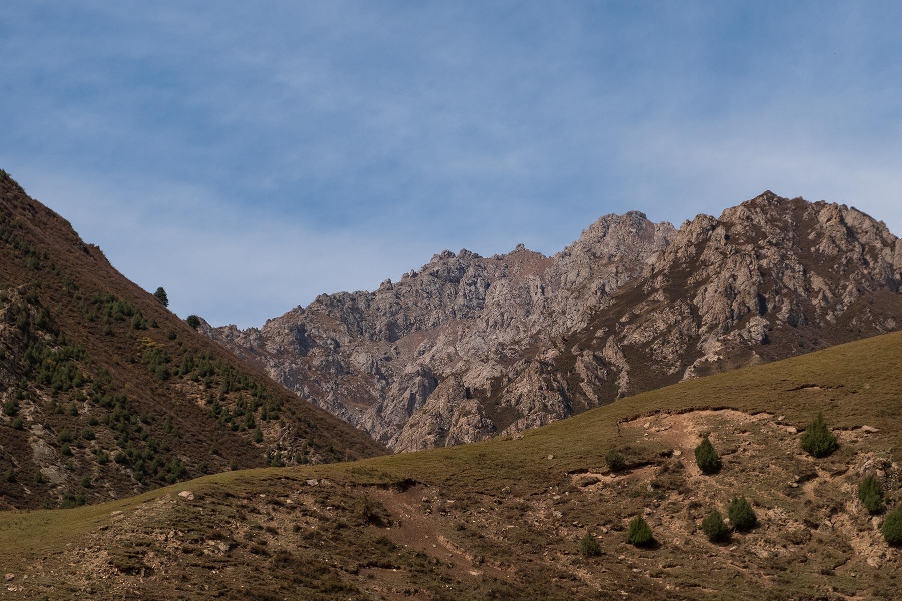 Bergregion in Gansu in China