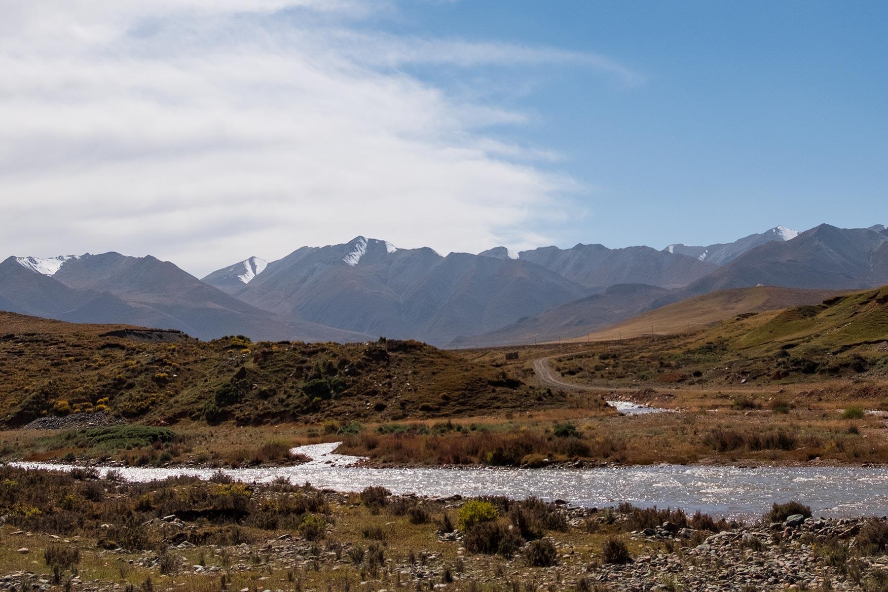 Bergregion in Gansu China