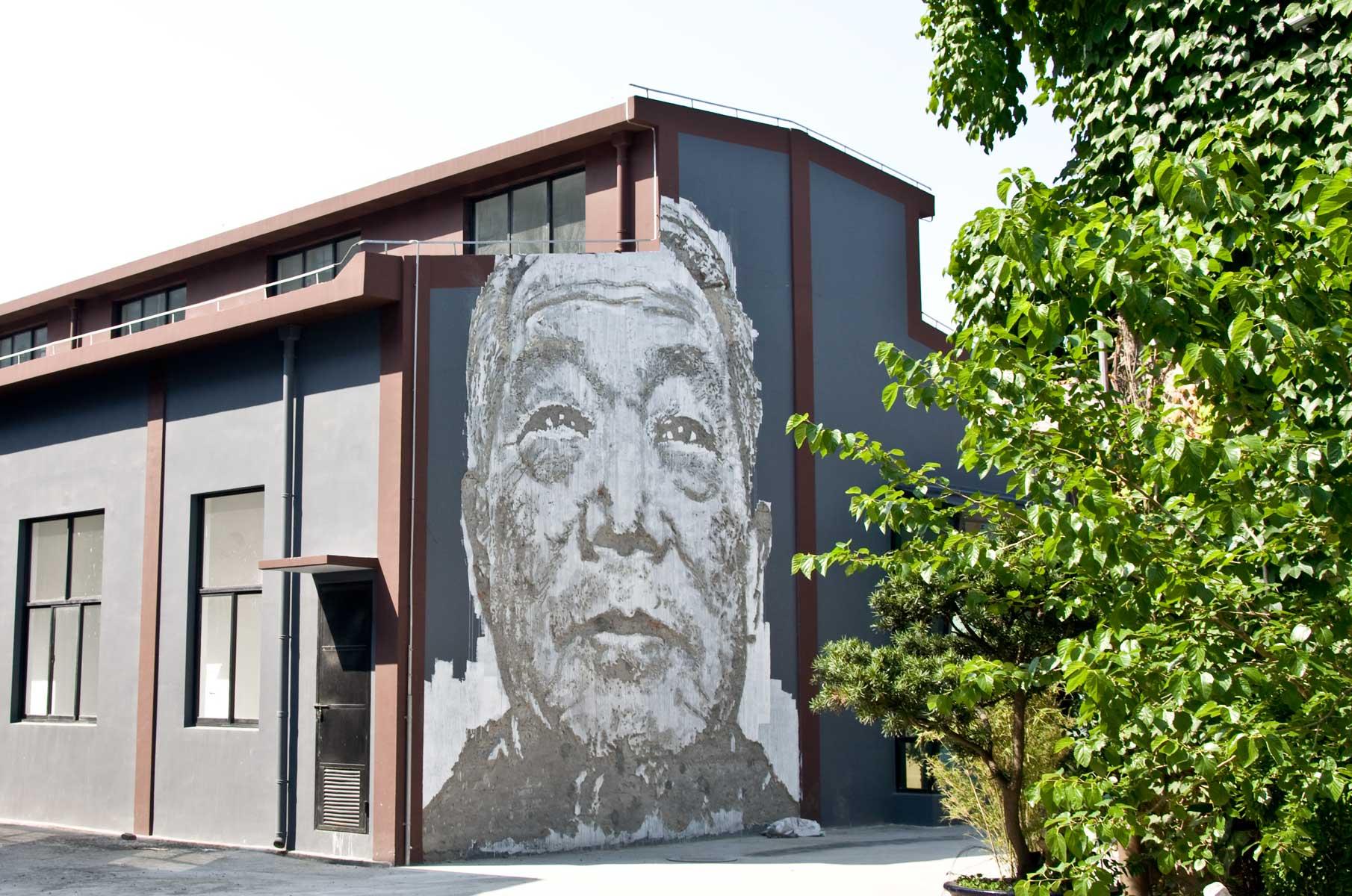 "Vhils Streetart ""Visceral"" in Shanghai, China"