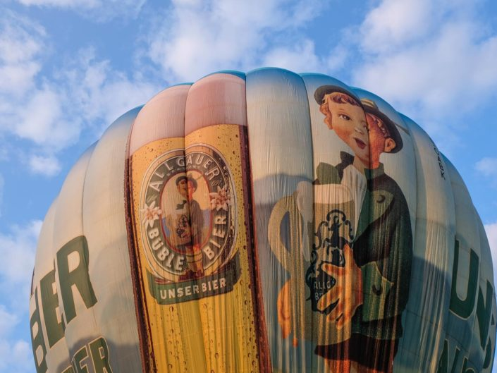 Ballonfahrt mit dem Allgäuer Büble Bier Ballon