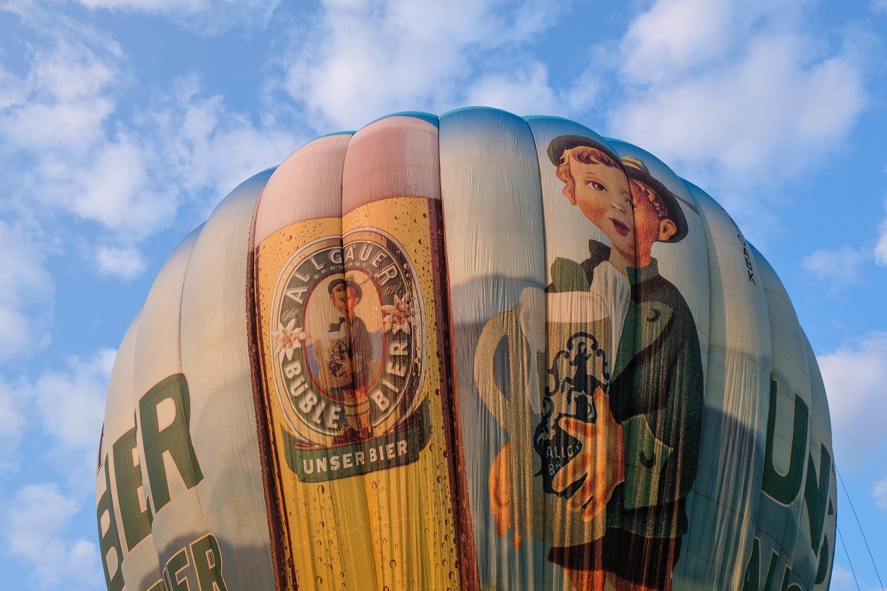 Bavaria Ballon, Allgäuer Büble Bier - Vorbereitungen