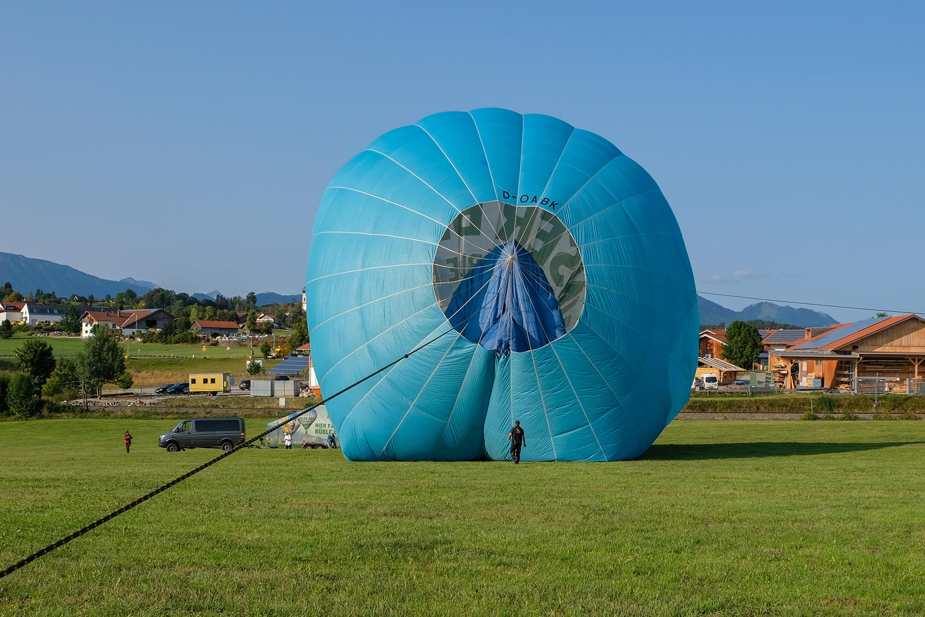 Landung des Allgäuer Büble Bier Ballons