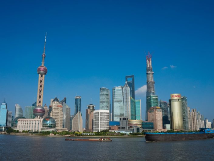 Shanghai bei blauem Himmel – Nunja fast