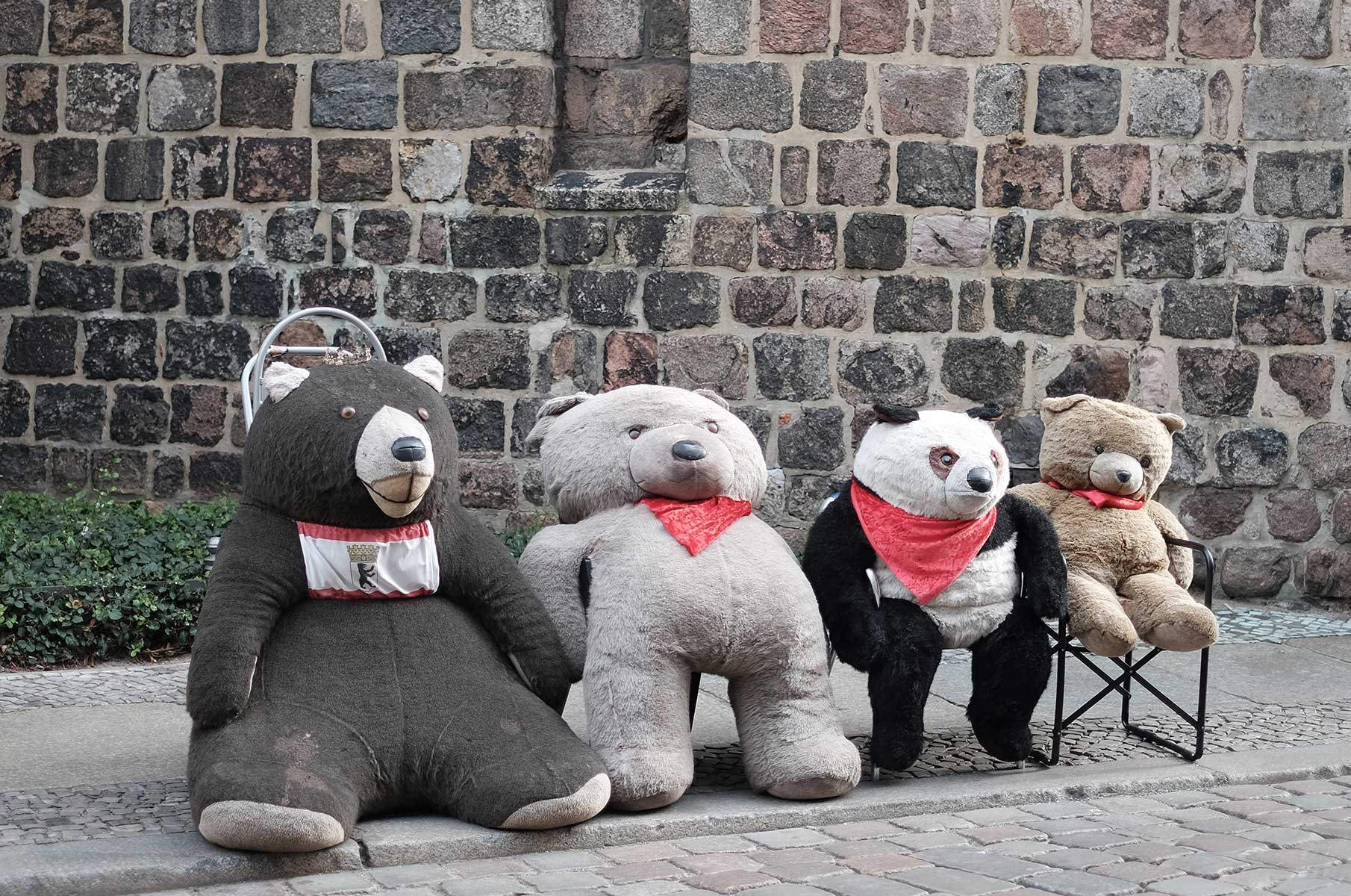Teddybärfamilie in Berlin