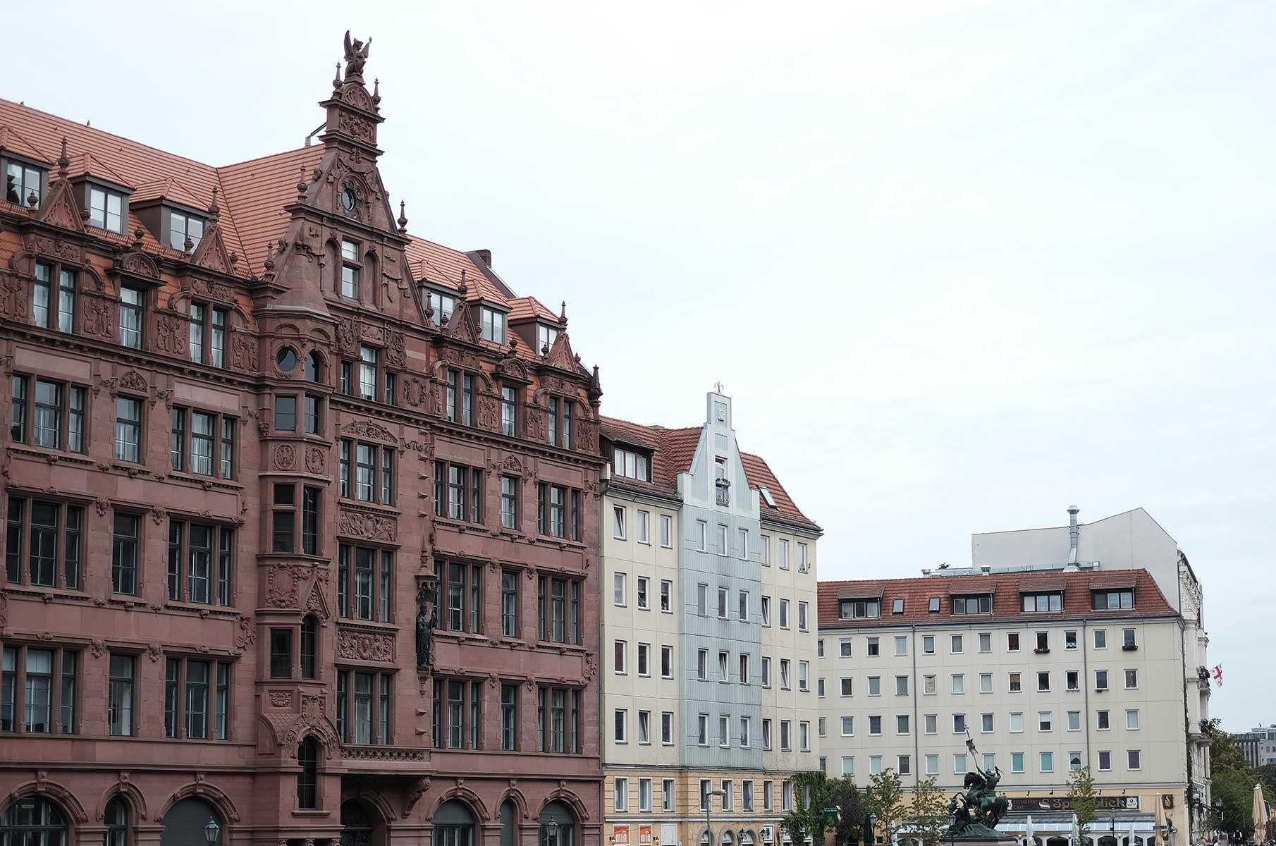 Häuser an der Spree in Berlin