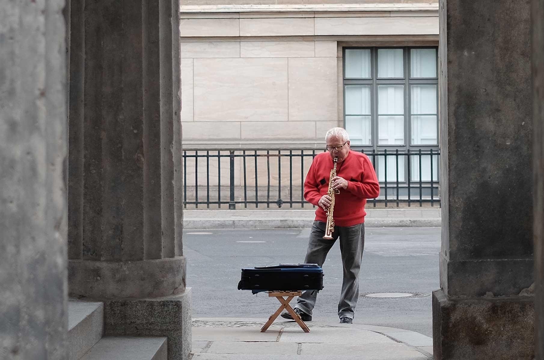 Musiker auf der Museumsinsel Berlin