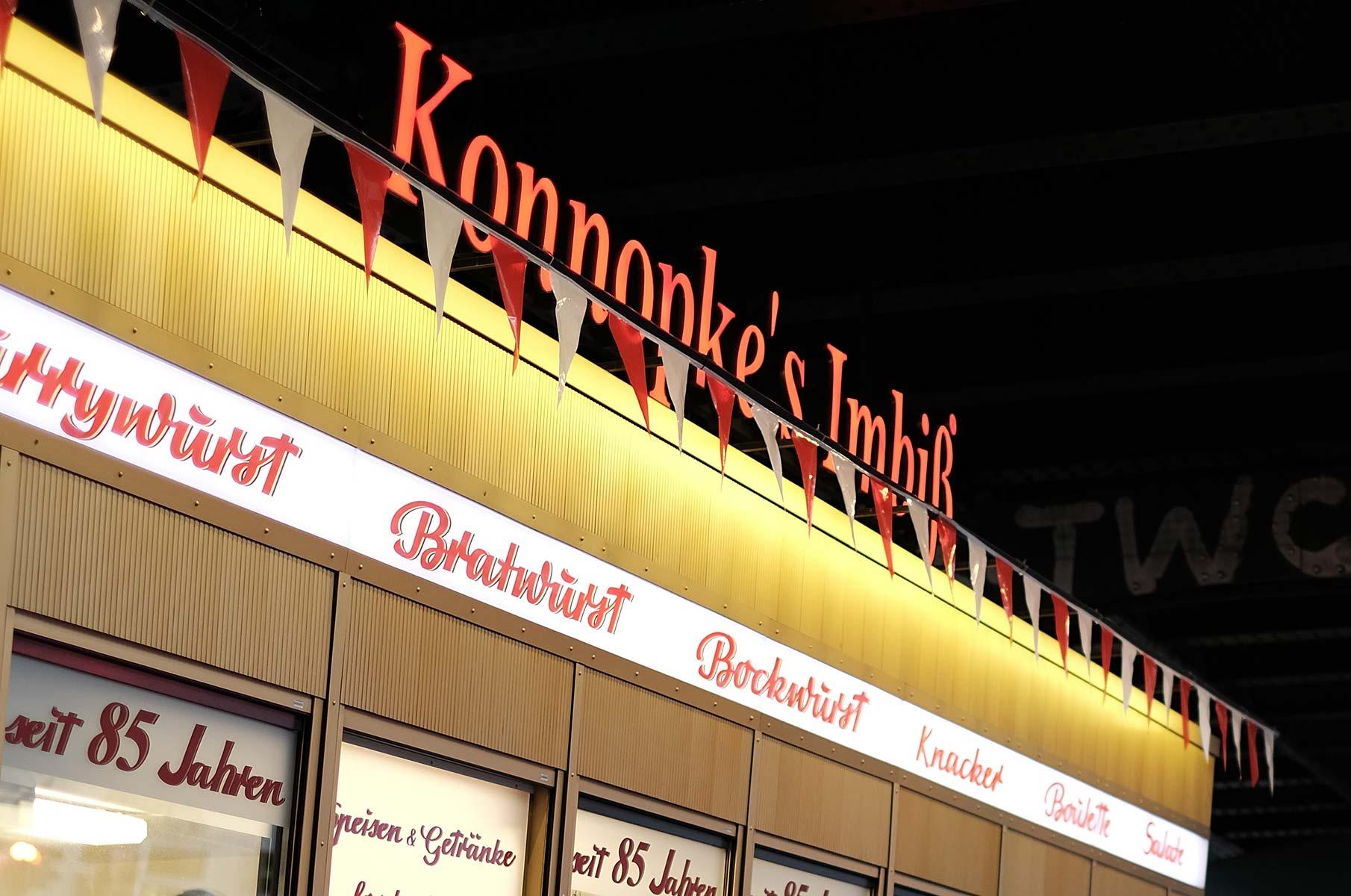 Die Currywurst von Konnopke in Berlin
