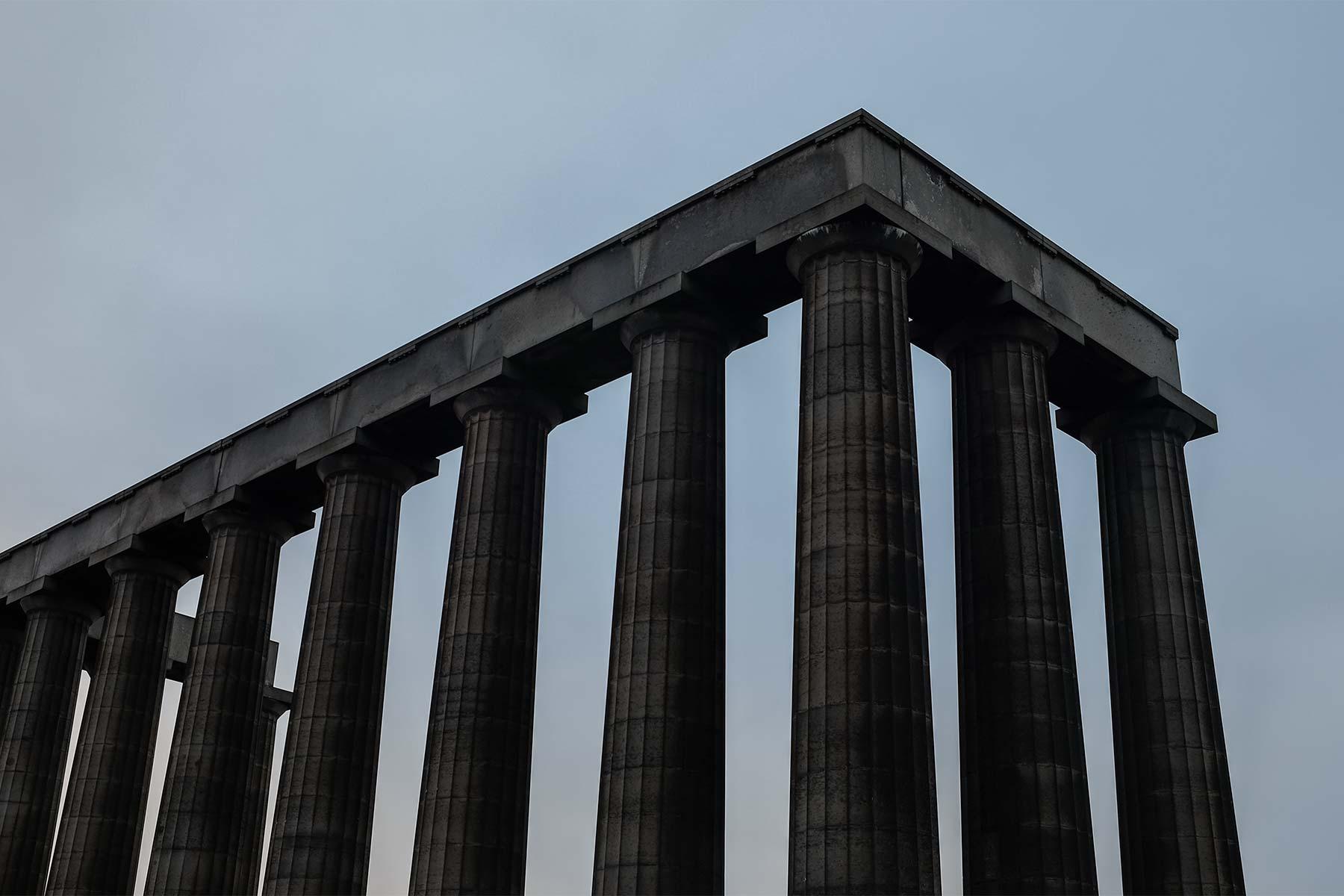 Calton Hill in Edinburgh, Schottland