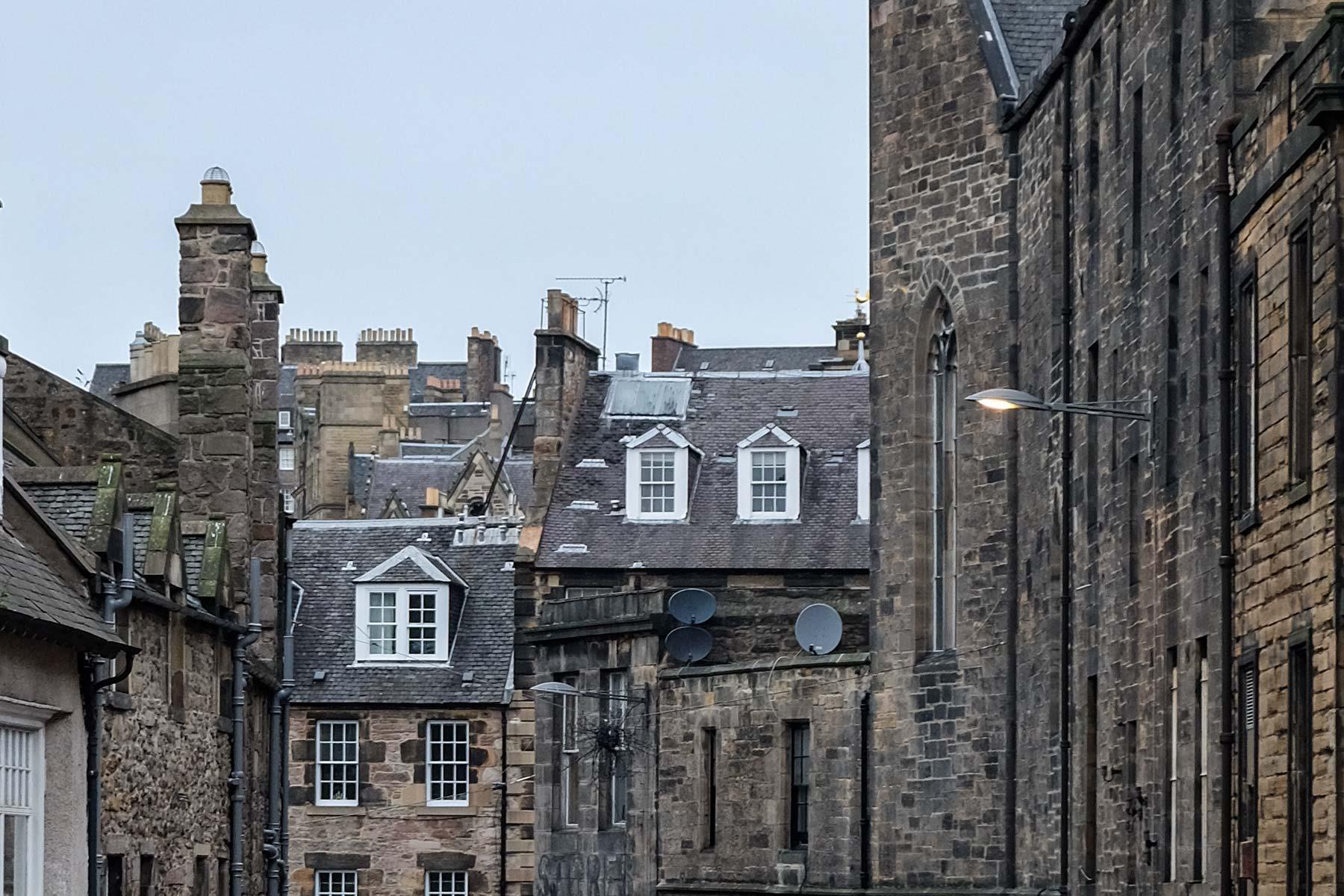 Innenstadt von Edinburgh, Schottland
