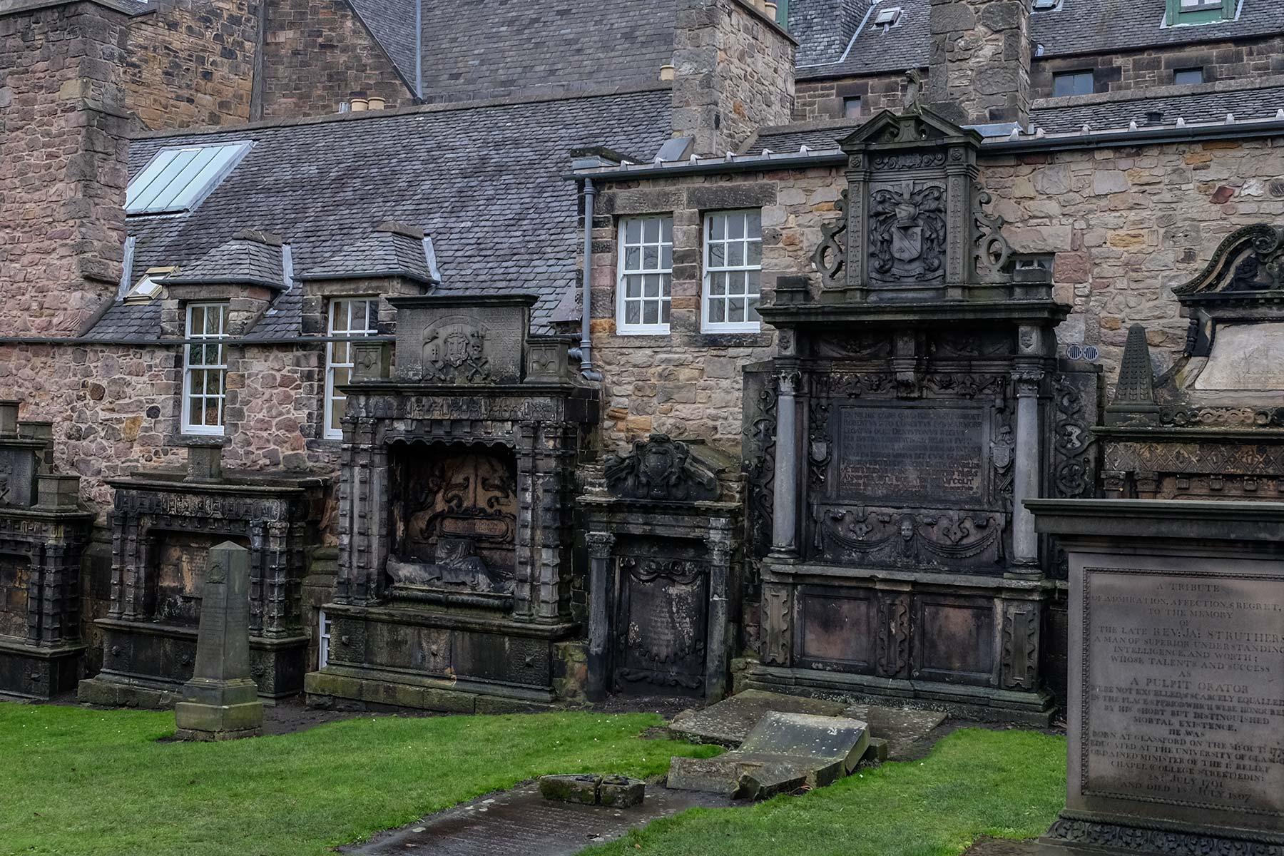 Greyfriars Kirkyard in Edinburgh, Schottland