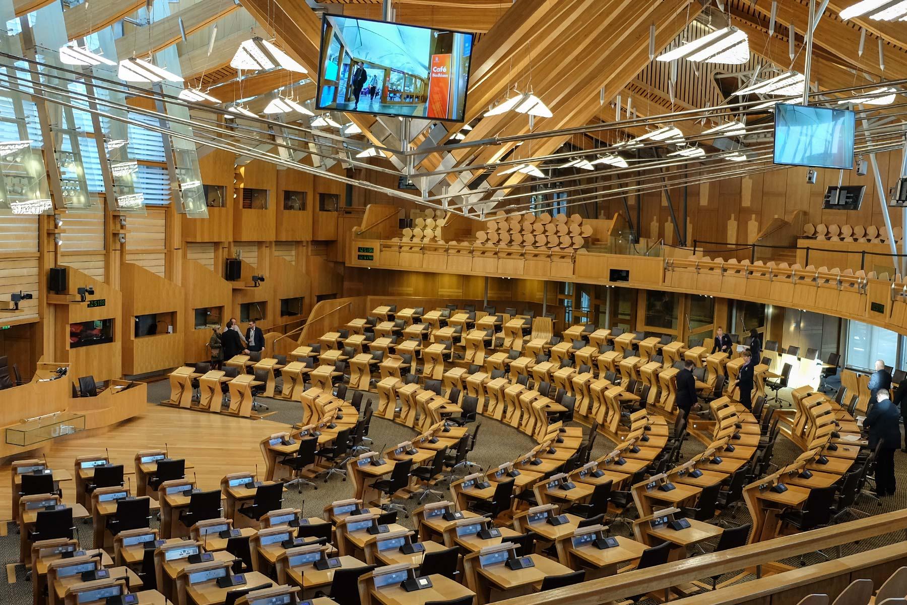 Schottisches Parlament in Edinburgh, Schottland