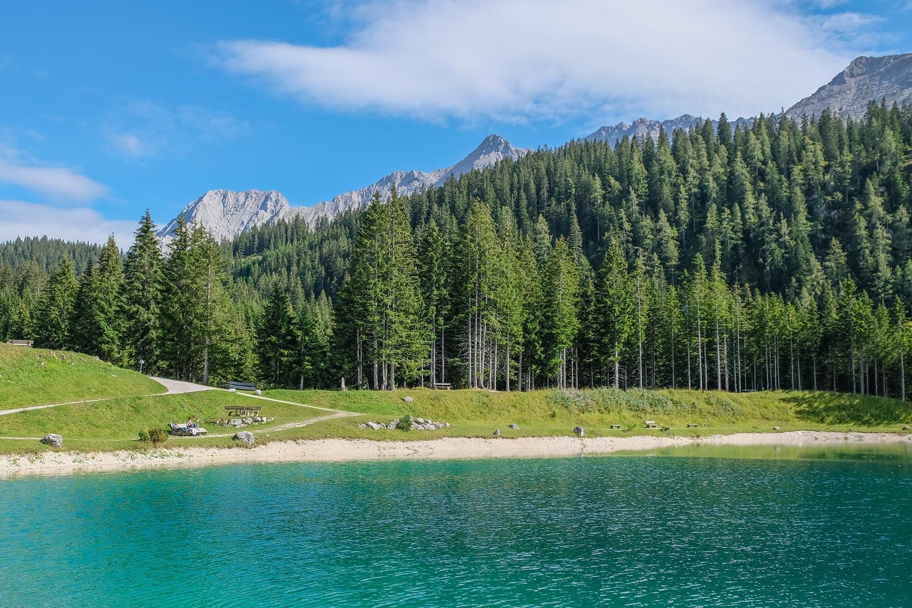 Ehrwalder Almse auf der Tiroler Zugspitz Arena