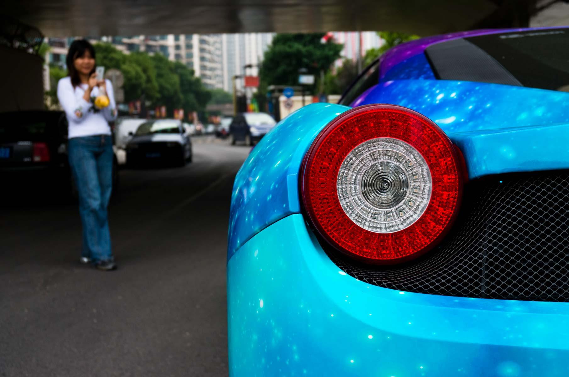 Sternenhimmel Folierung Ferrari 458 Italia in Shanghai, China
