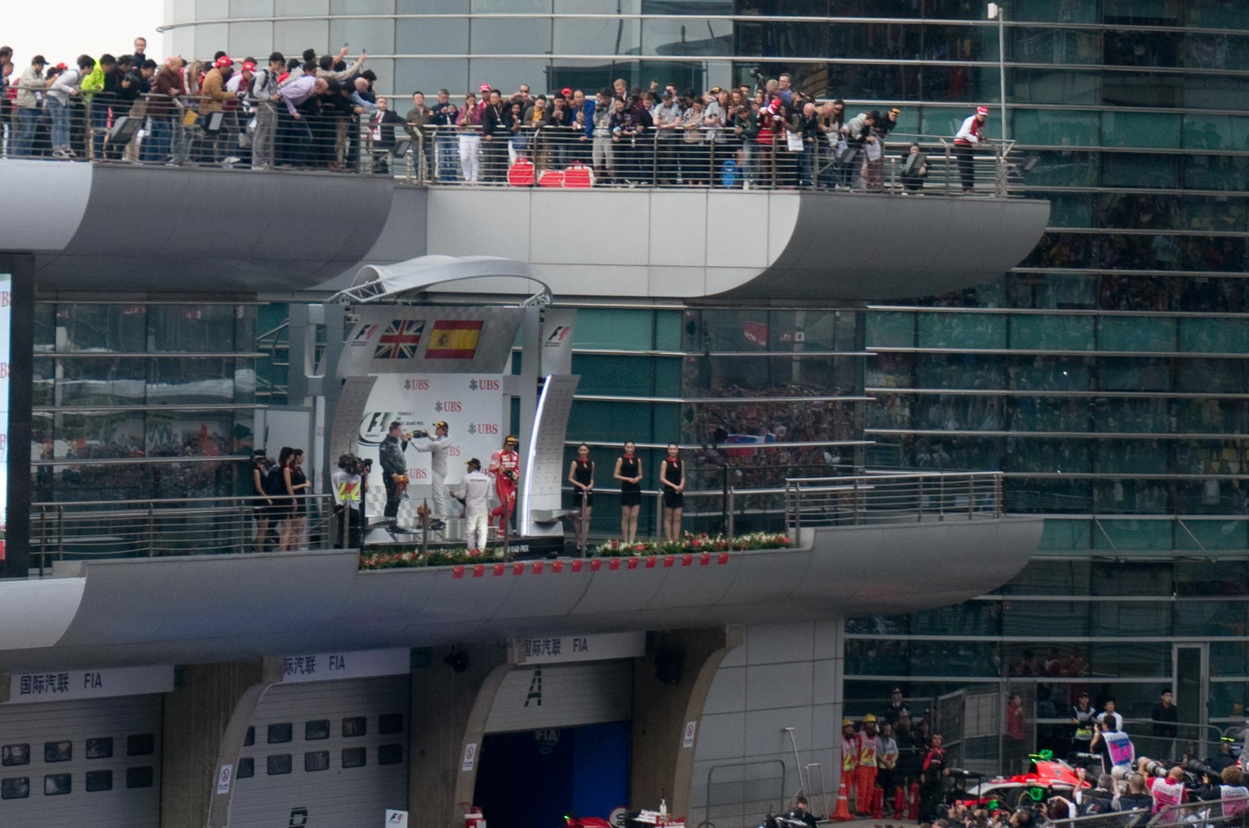 Siegerehrung Formula 1 Grand Prix China 2014