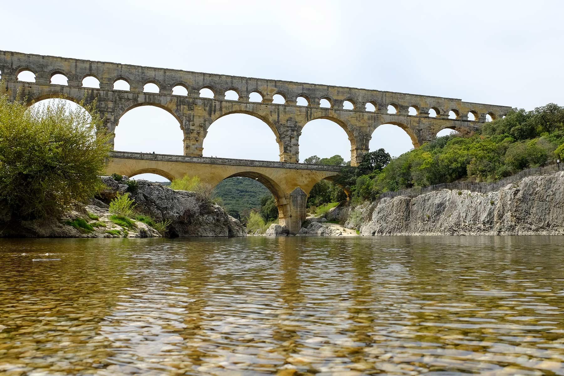 Pont du Gard in der Provence, Frankreich