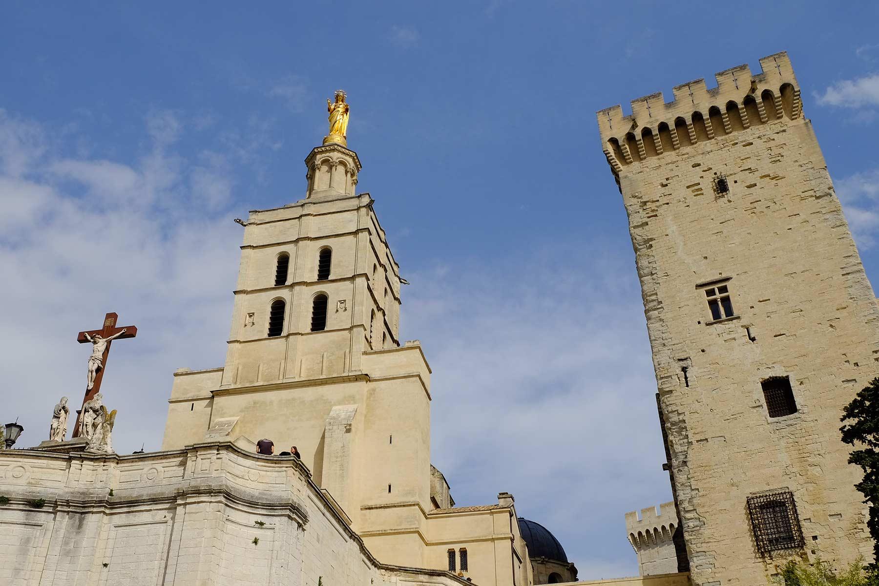 Papstpalast und Kathedrale von Avignon, Frankreich