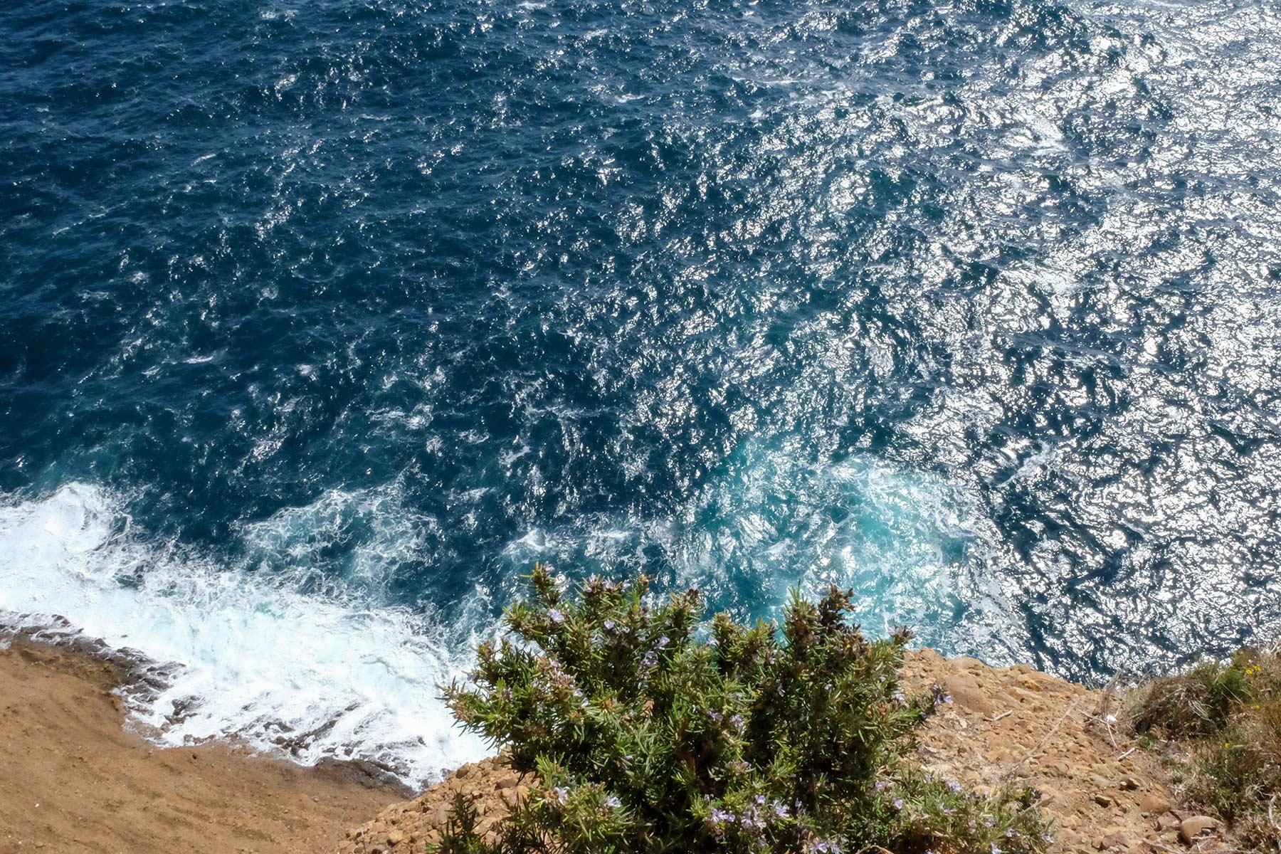 Blick auf das Mittelmeer vom Parc du Mugel in La Ciotat, Frankreich