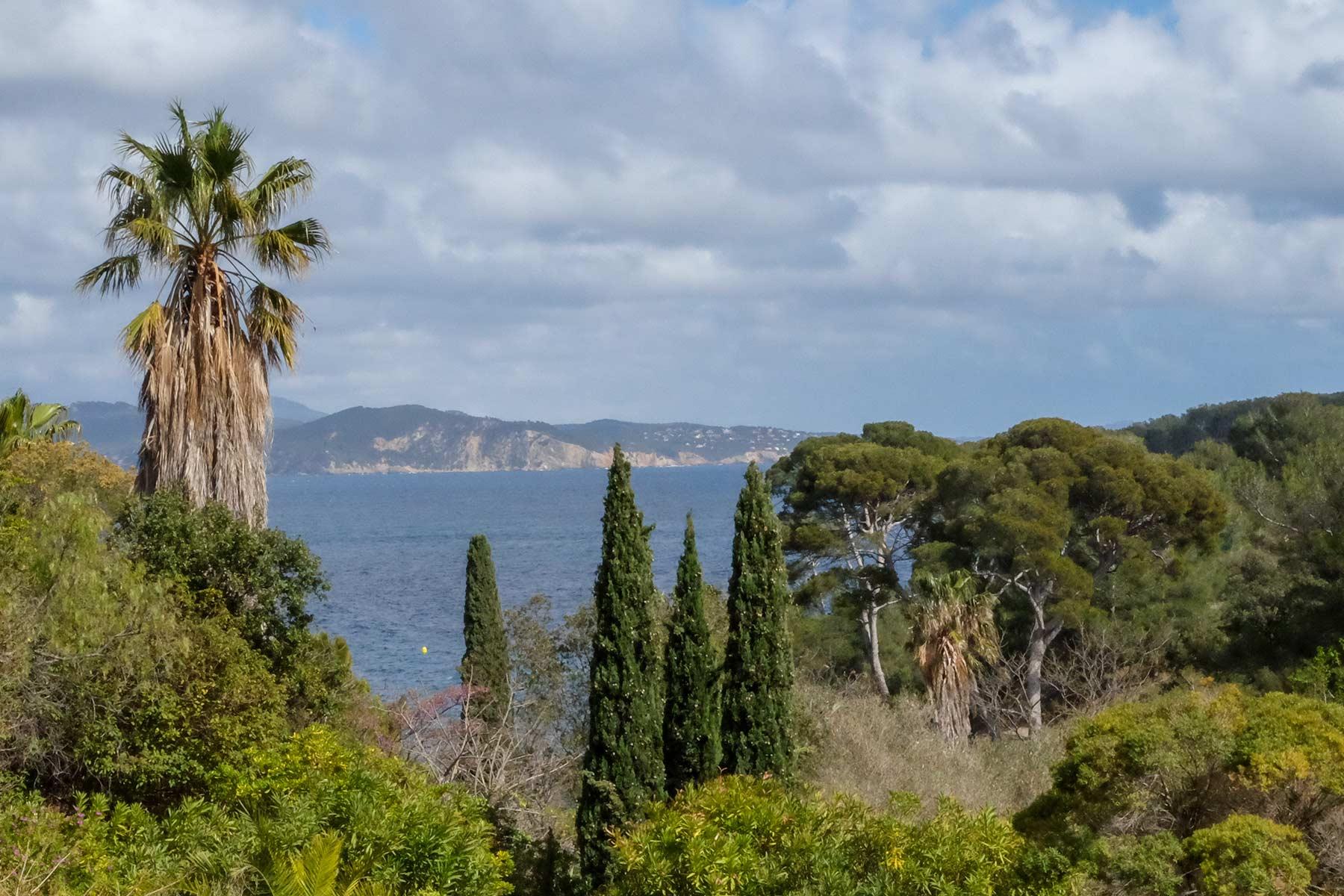 Blick vom Parc du Mugel in La Ciotat, Frankreich