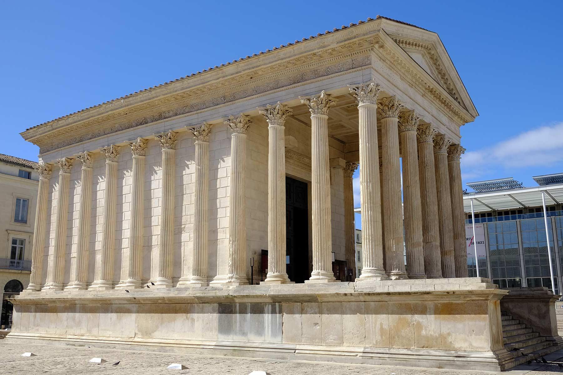 Maison Carrée in Nîmes, Frankreich