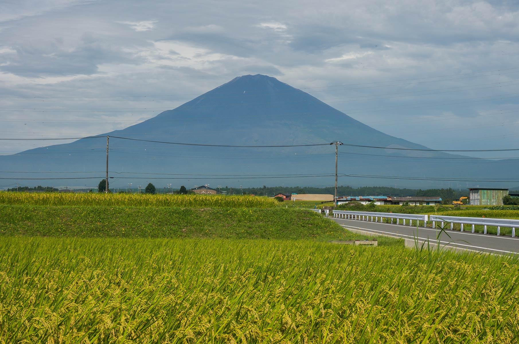 Mt. Fuji auf der Insel Honshū in Japan