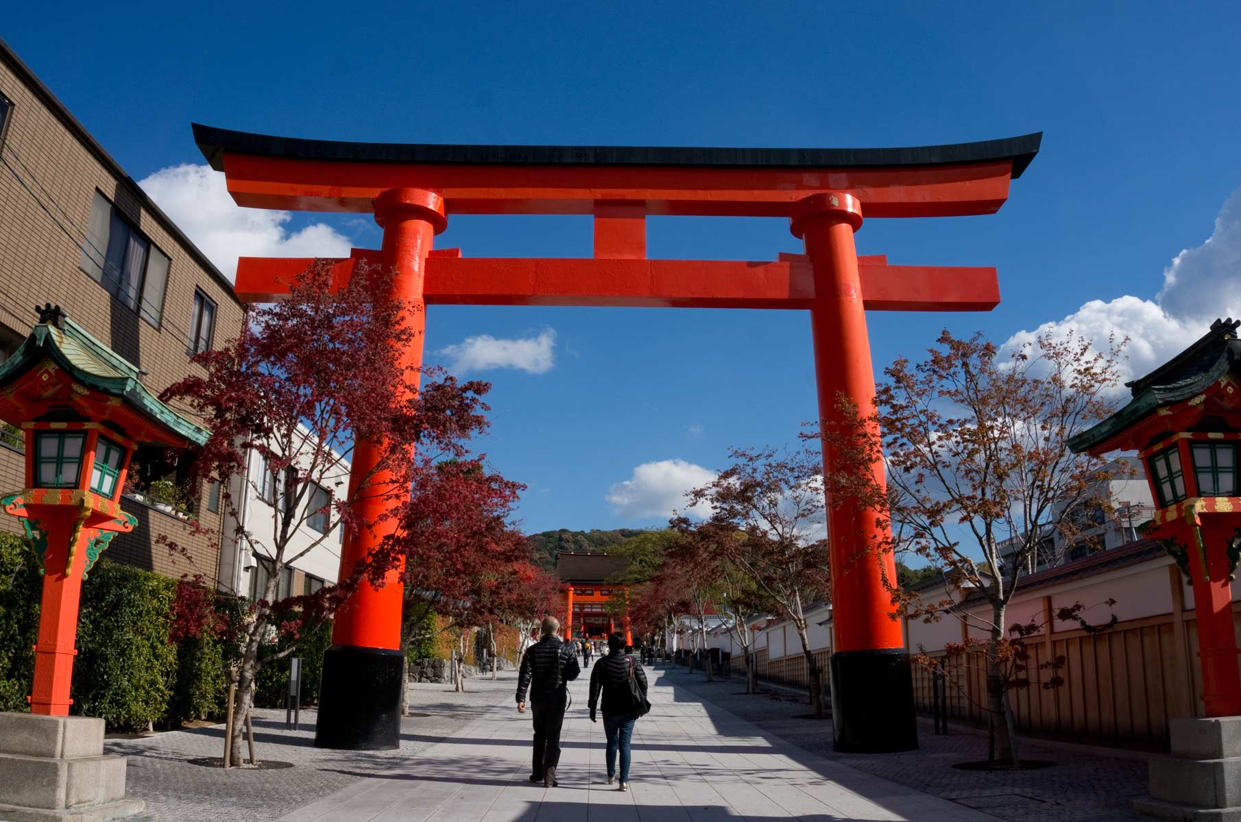 Eingang zum Fushimi Inari-Taisha in Kyoto, Japan