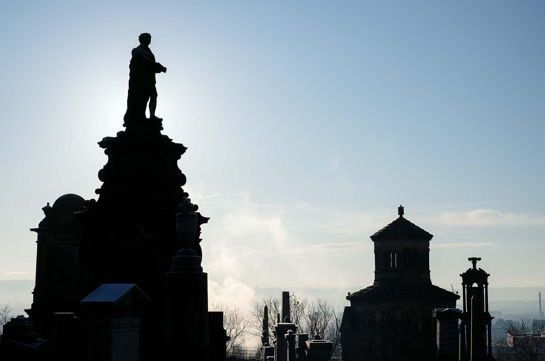 The Necropolis im Winter in Glasgow, Schottland