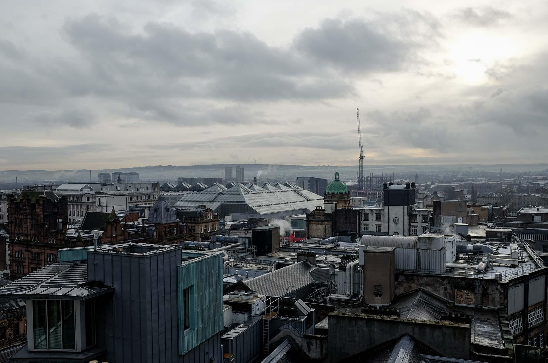 """Blick auf Glasgow vom """"The Lighthouse"""", Schottland"""