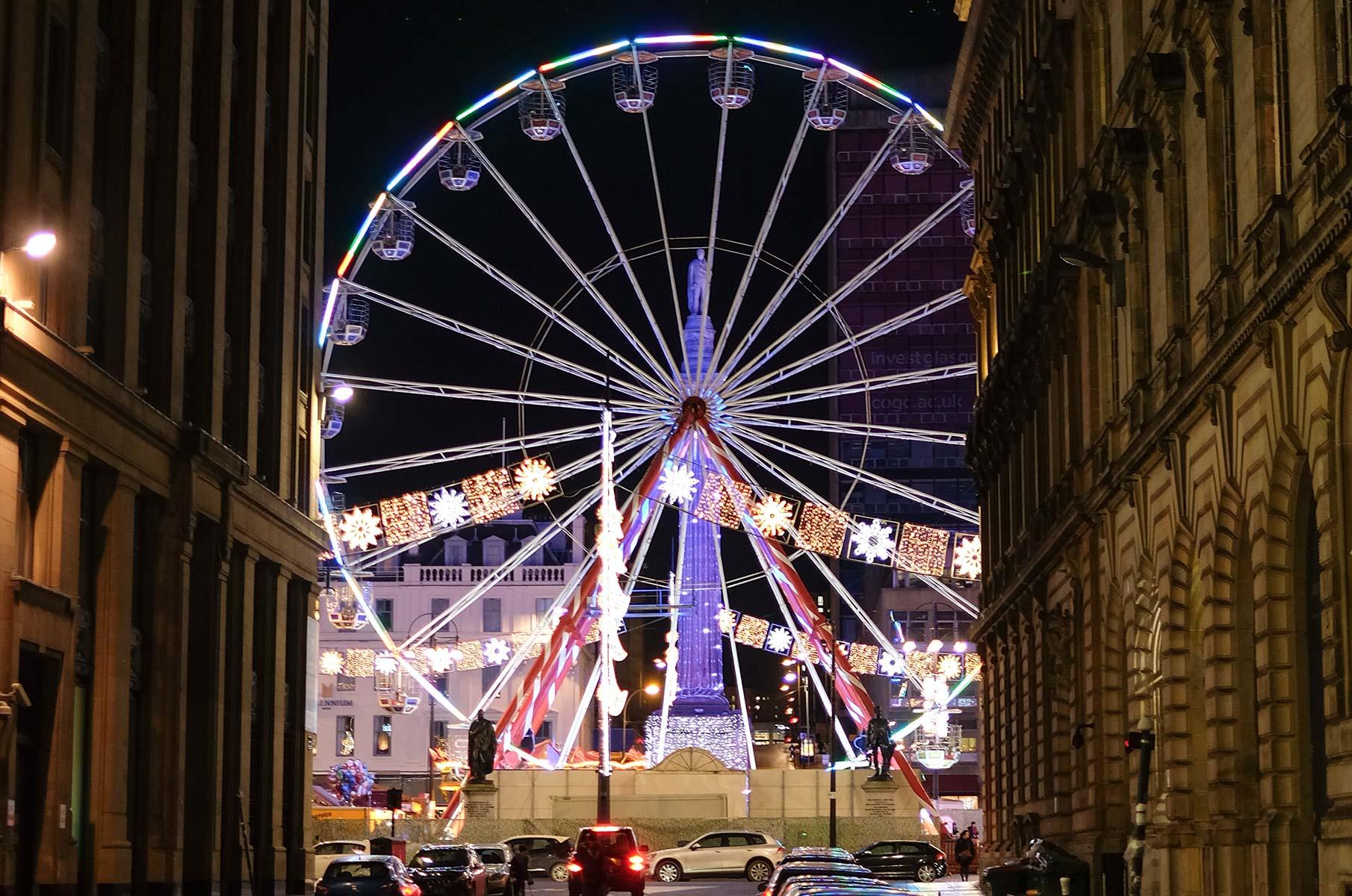 Weihnachtsmarkt in Glasgow, Schottland