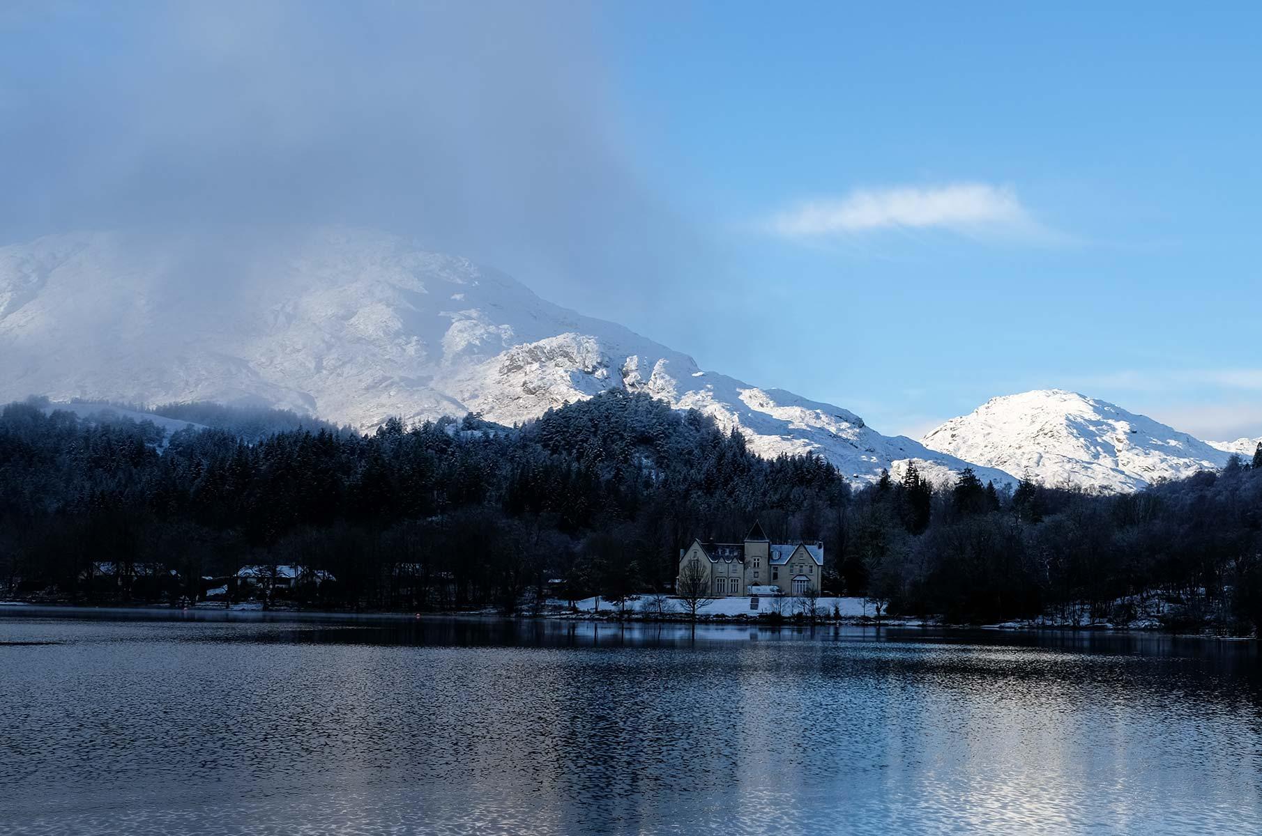 Blick auf den Loch Shiel in Schottland