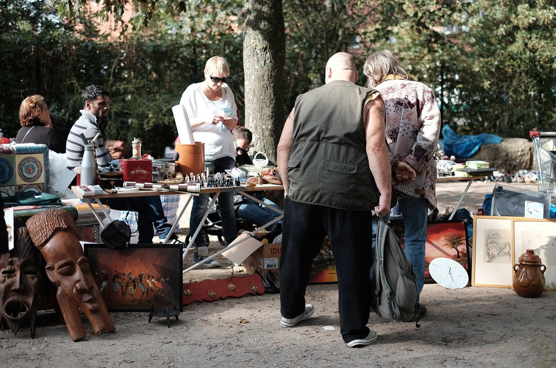 Flohmarkt Flohschanze im Schanzenviertel, Hamburg