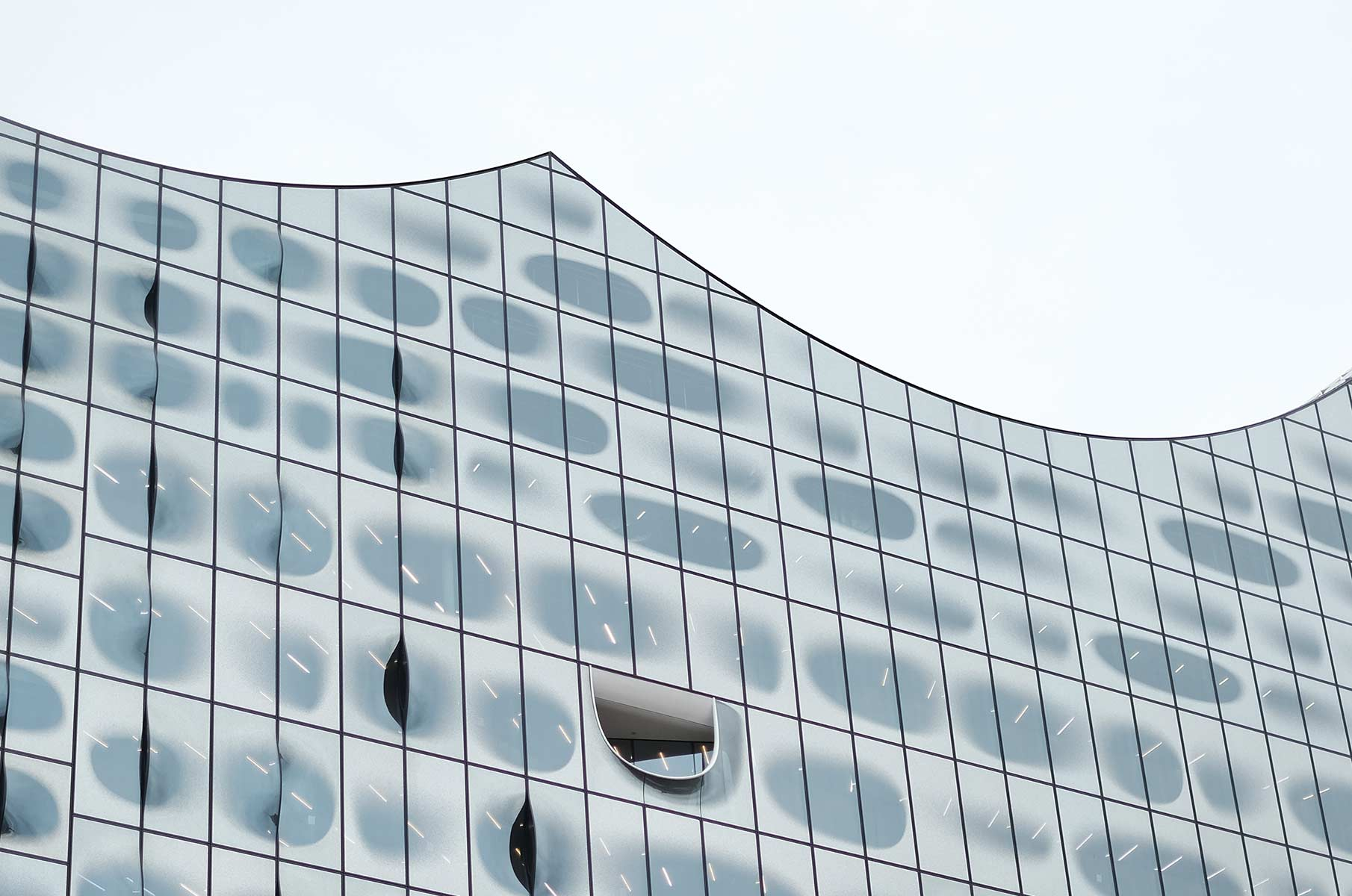 Fassade der Elbphilharmonie in Hamburg