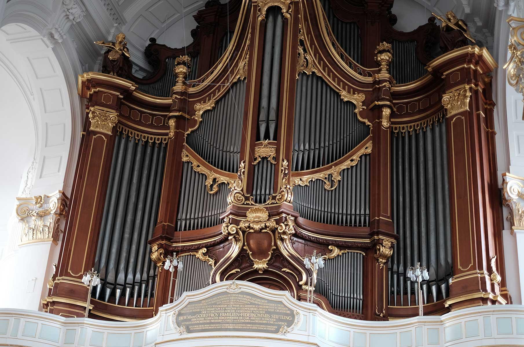 Die Orgel im Michel, der St. Michaelis Kirche, in Hamburg