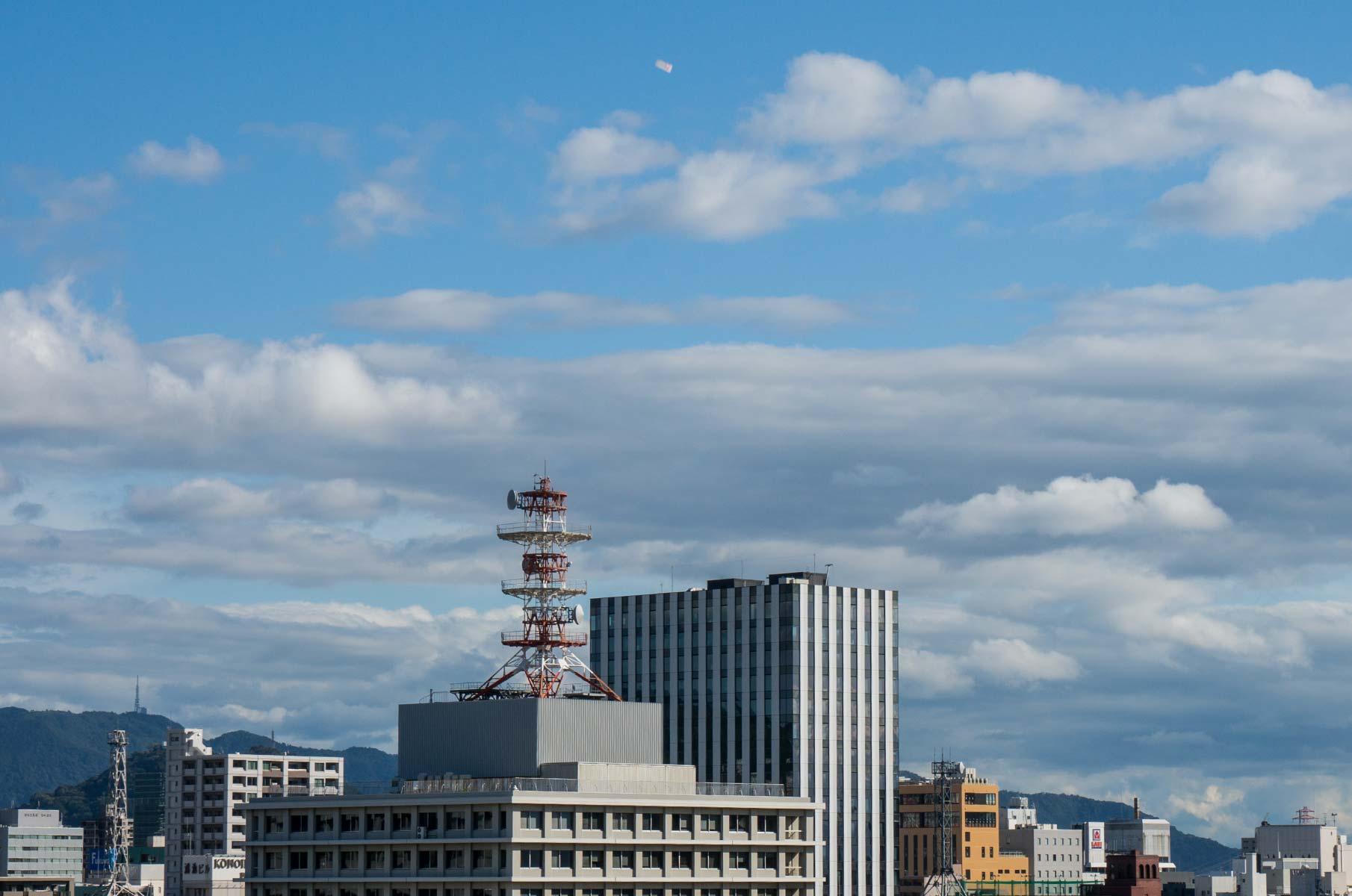 Blick von der Burg Hiroshima in Japan